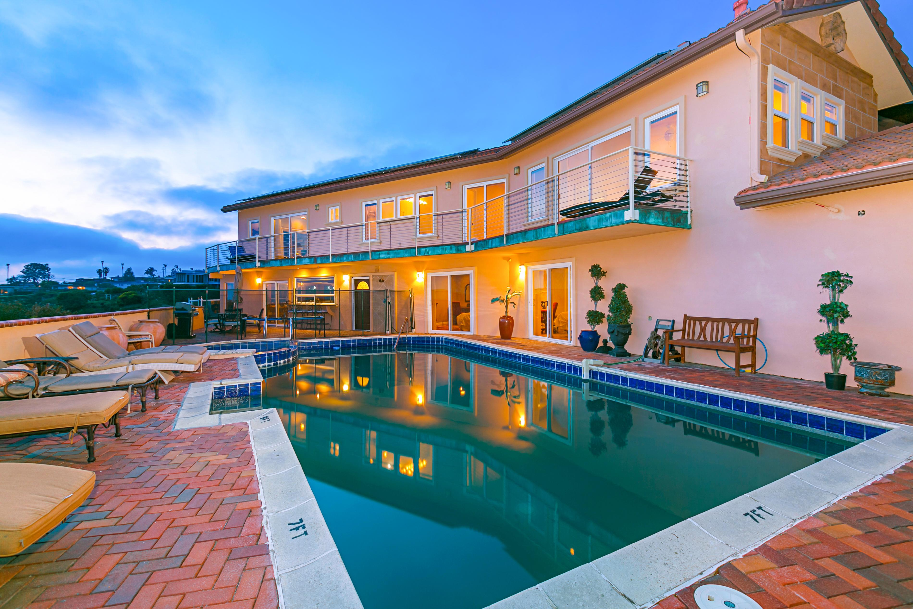 Luxe Ocean-View Estate with Private Pool and Hot Tub