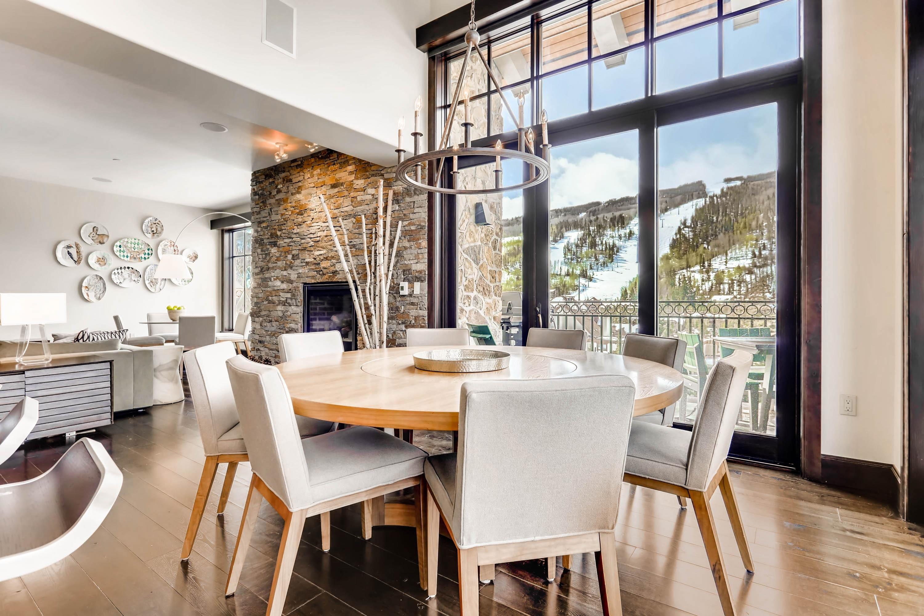 Welcome to Vail! This stunning condo is professionally managed by TurnKey Vacation Rentals. Gather for tasty meals in the sun-kissed dining area with seating for 8.