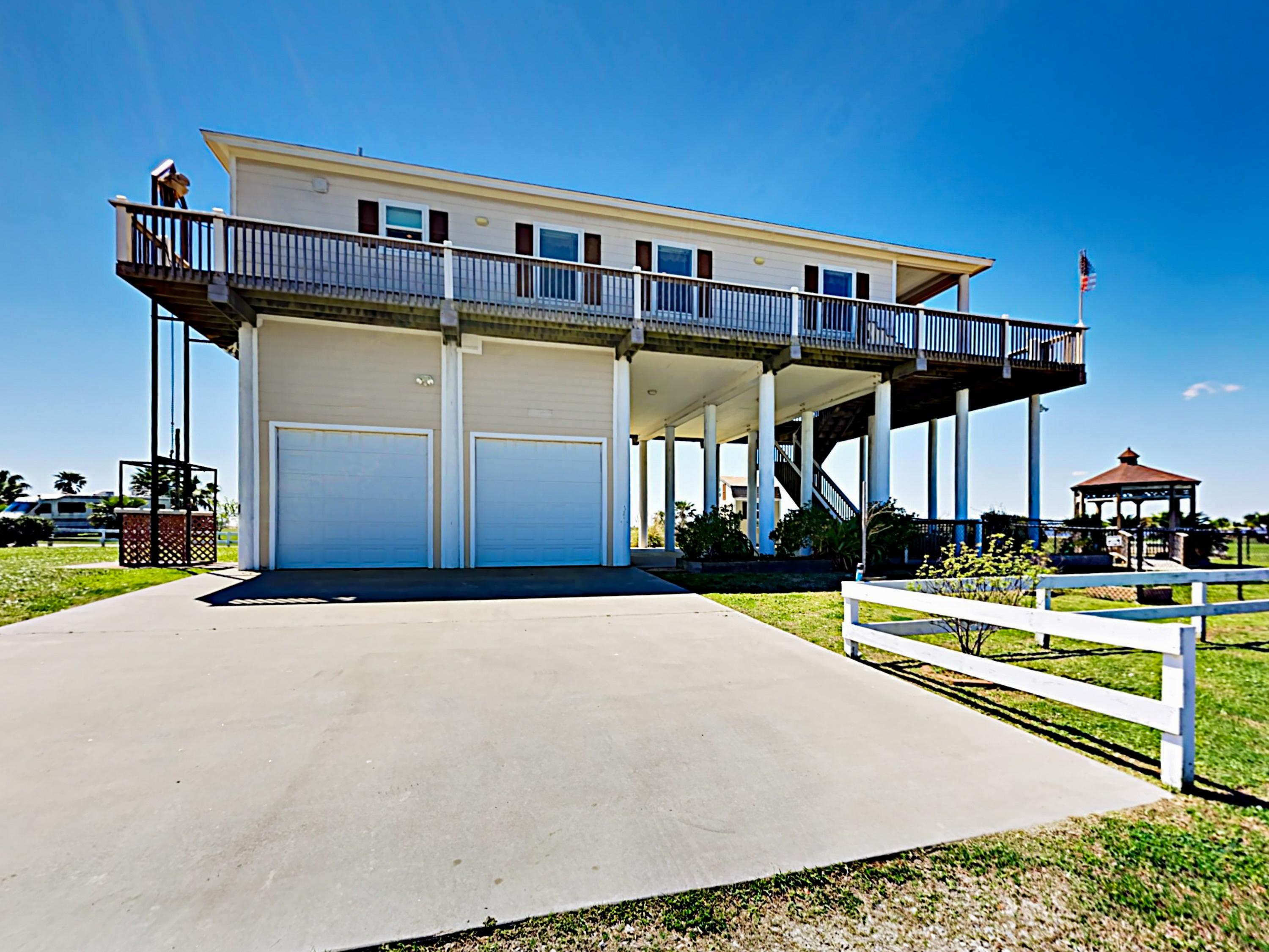 Situated on Bolivar Peninsula, your getaway offers an incredible bay-side location.