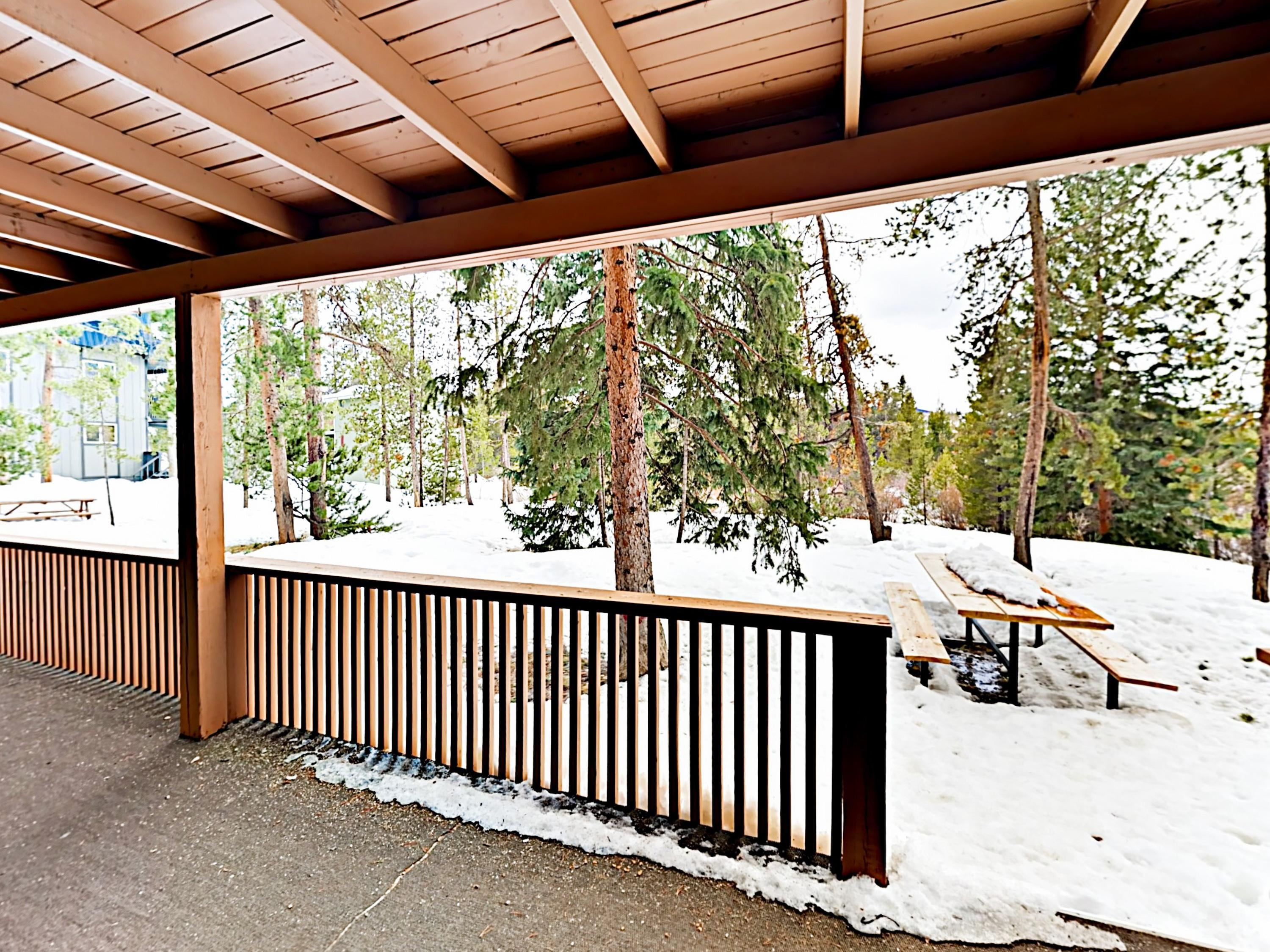 Nestled amongst the pines, this streamside condo sits adjacent to the Fraser River.