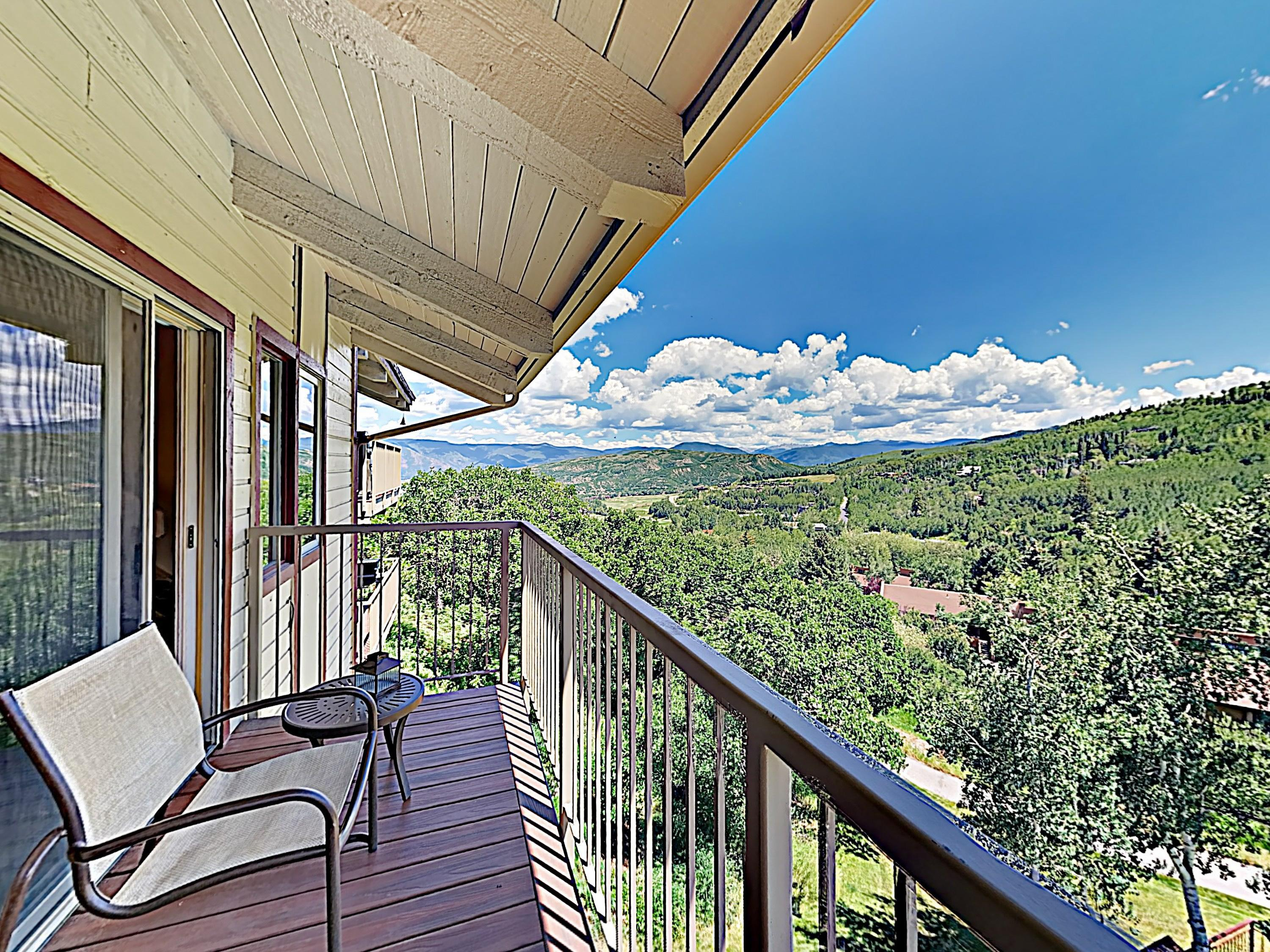 Take in unobstructed views of the Continental Divide from your private balcony.