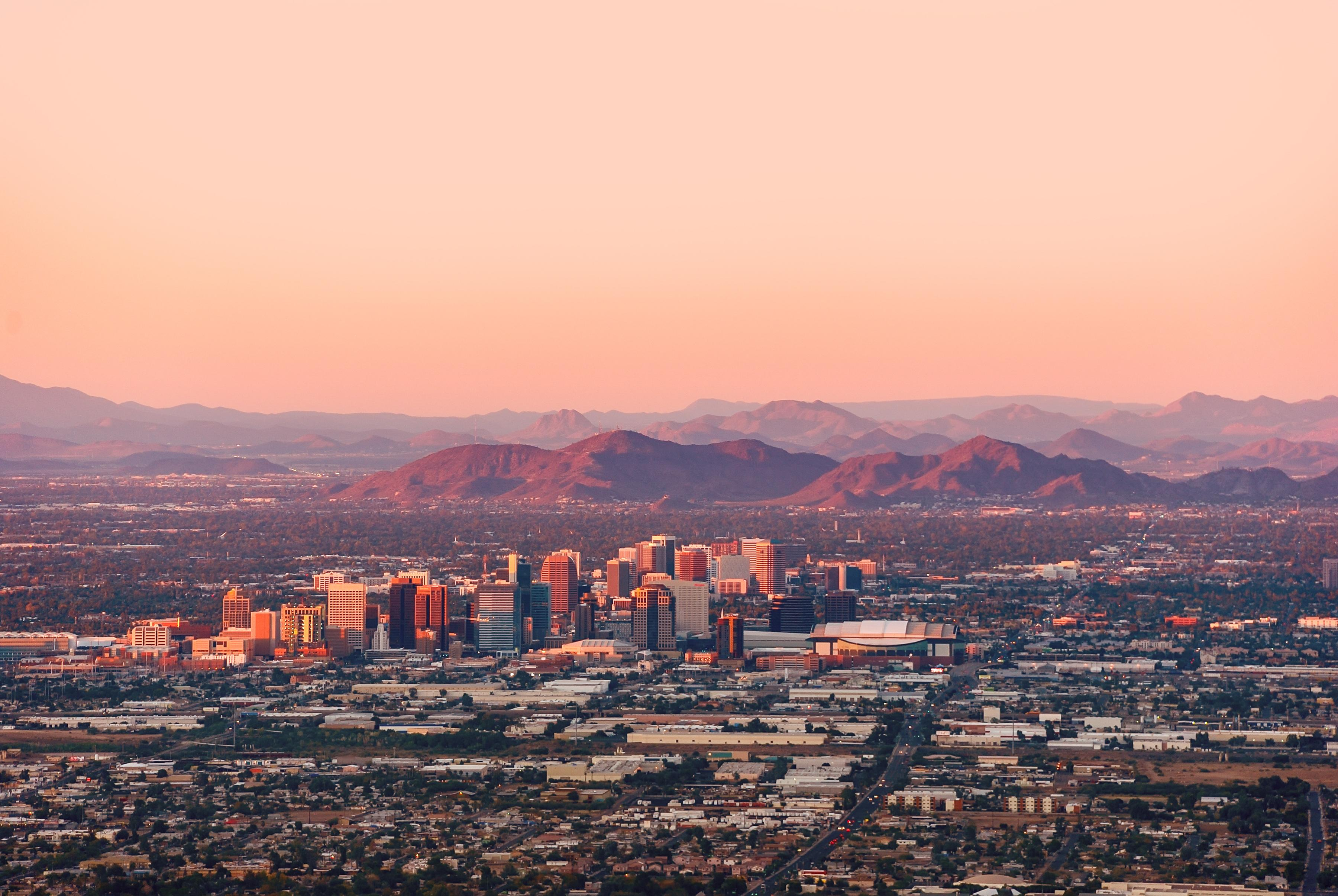 Aerial view of downtown Phoenix.