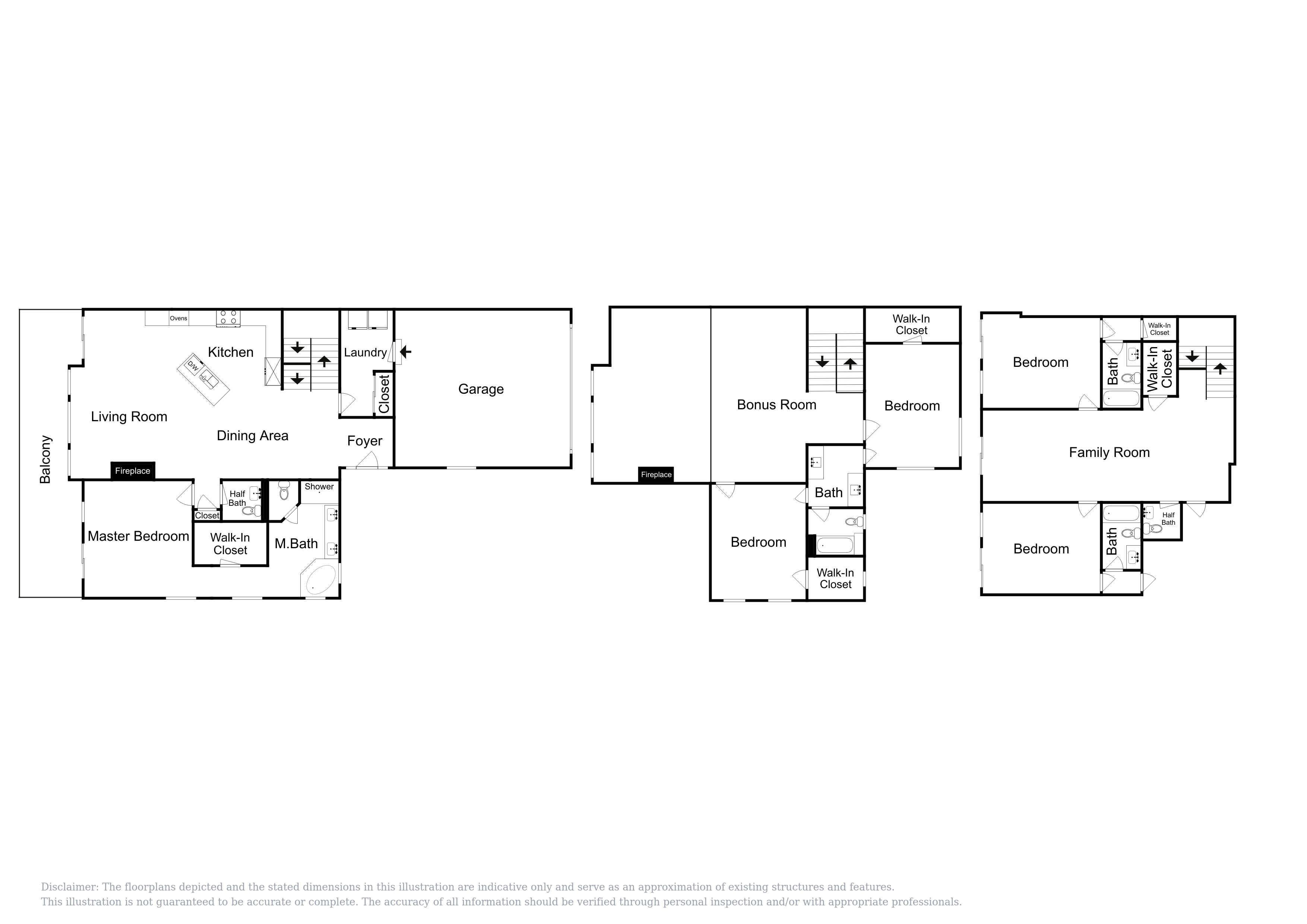 This floor plan of Unit 2 is an approximation and may not include the most recent information.
