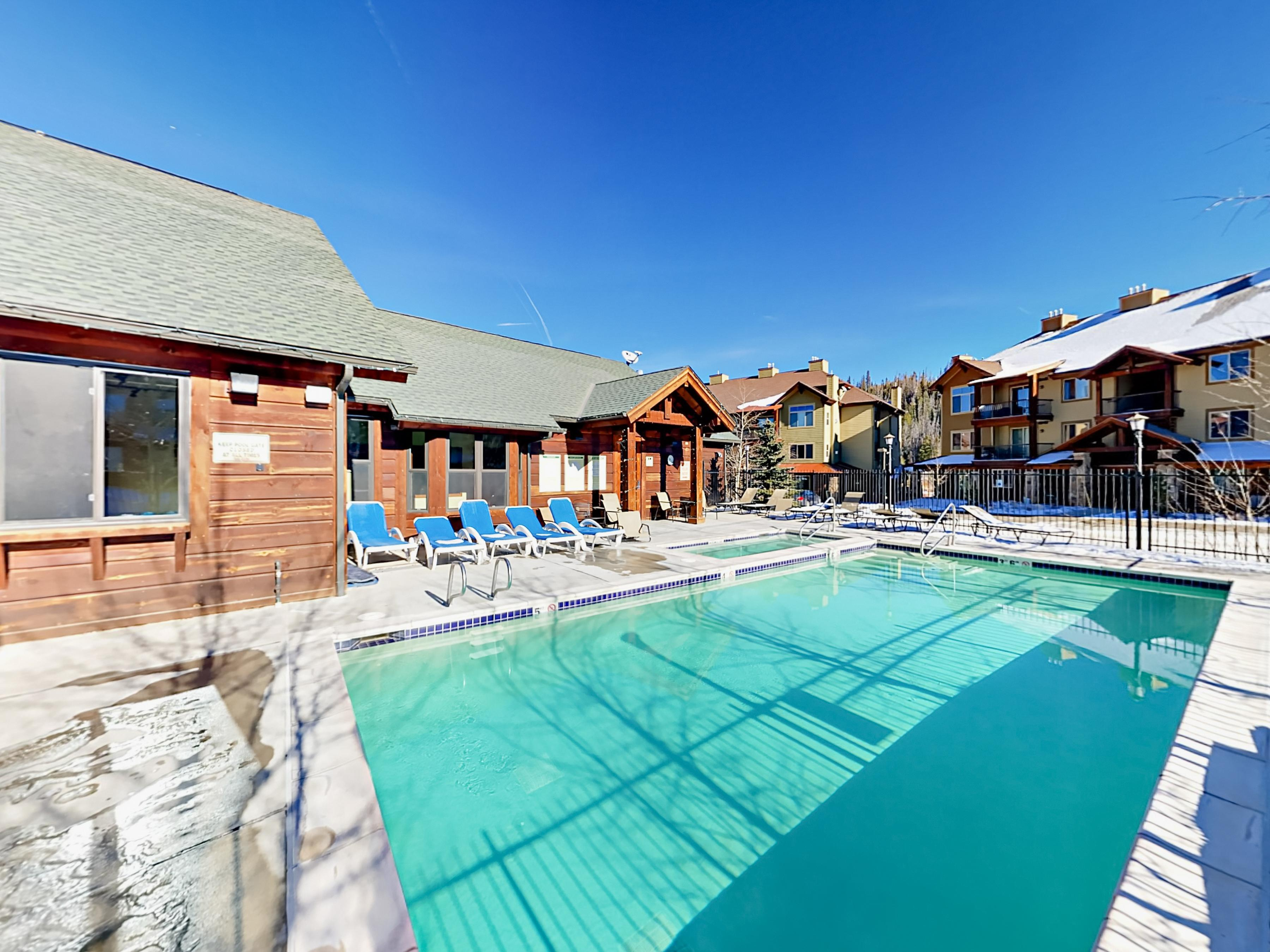 Enjoy access to a shared heated pool and hot tub, open year-round.