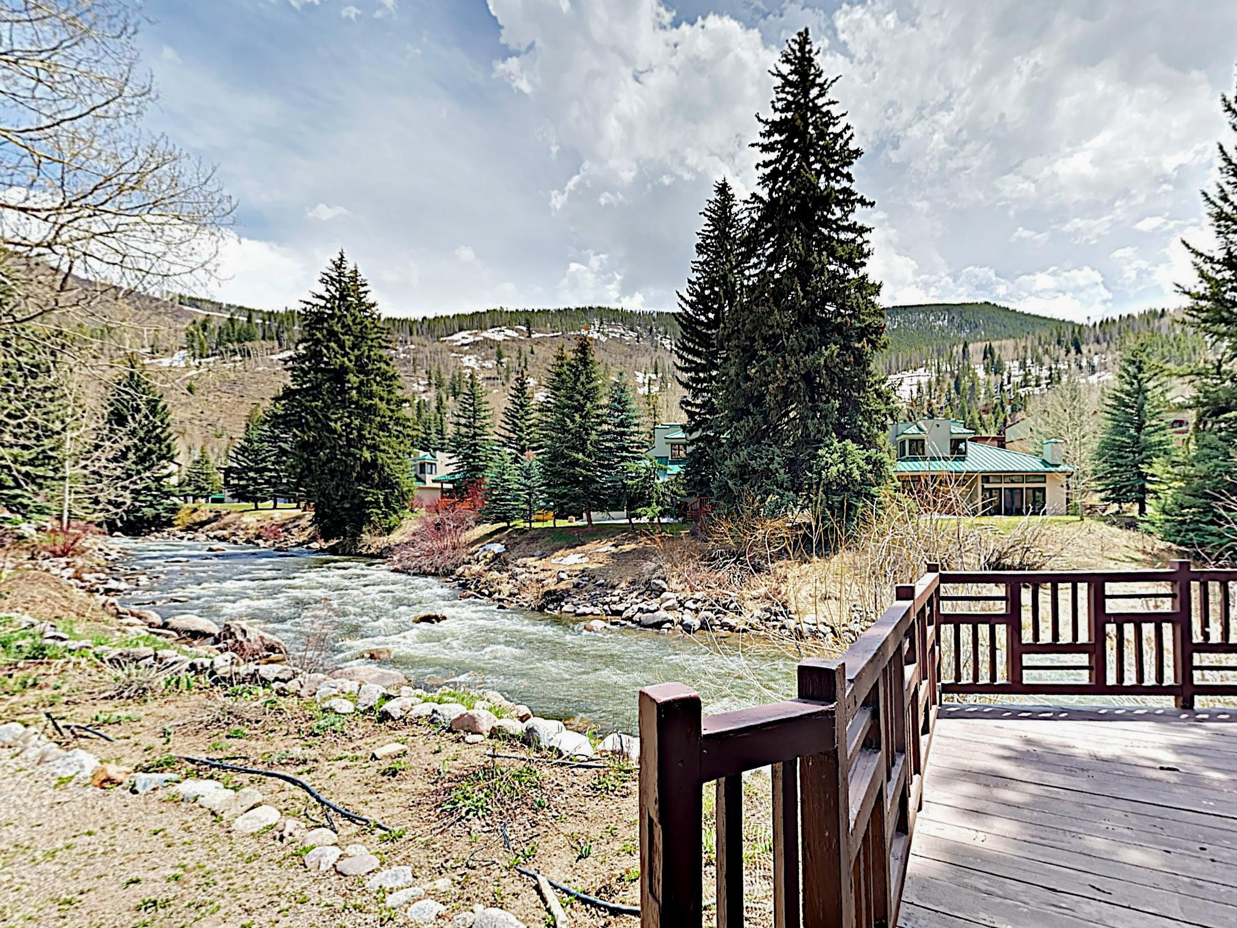 Gore Creek, an award-winning fly fishing stream, is just steps from your door.
