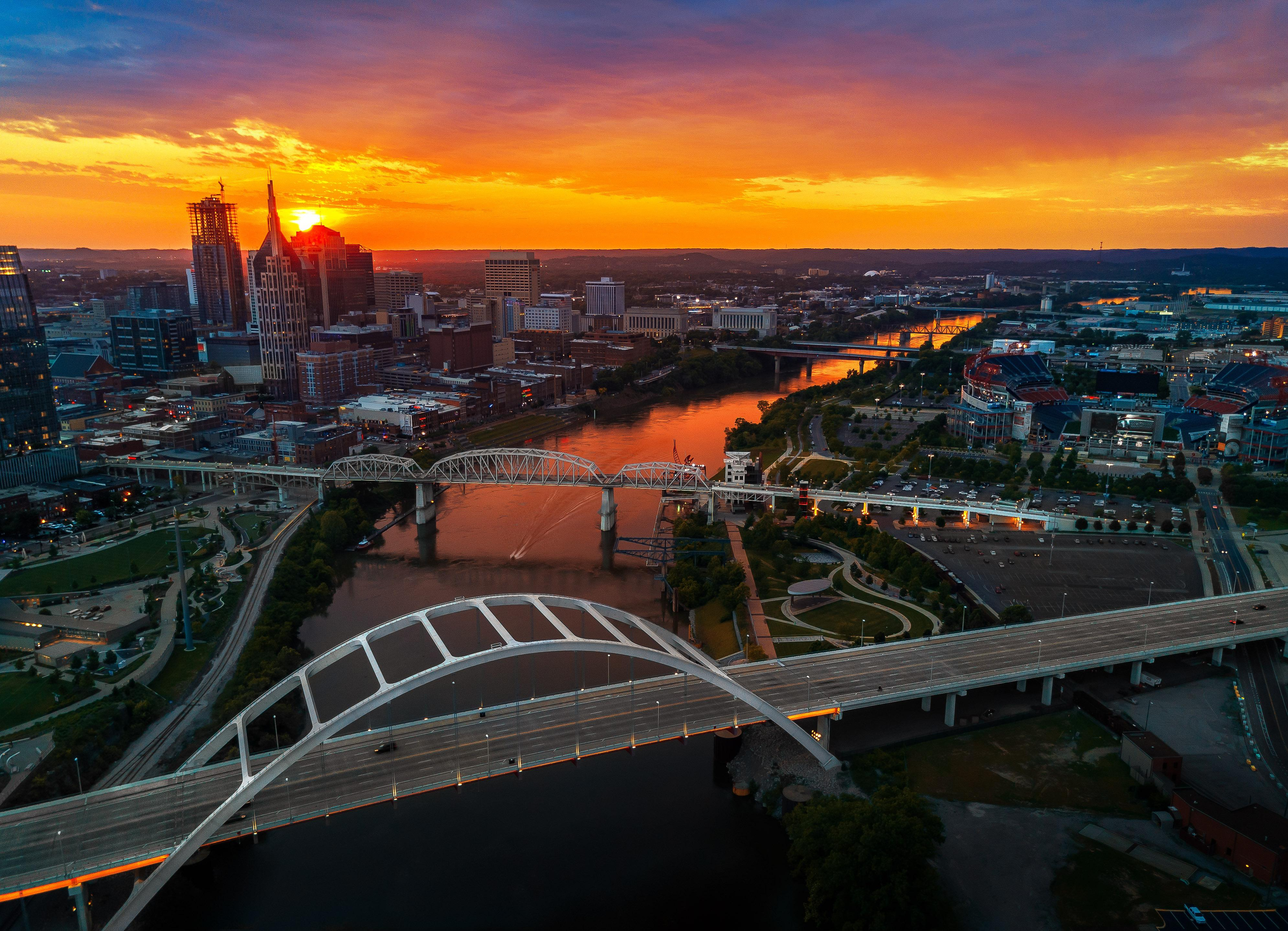 The sun sets on another fun-filled day in Music City, USA.