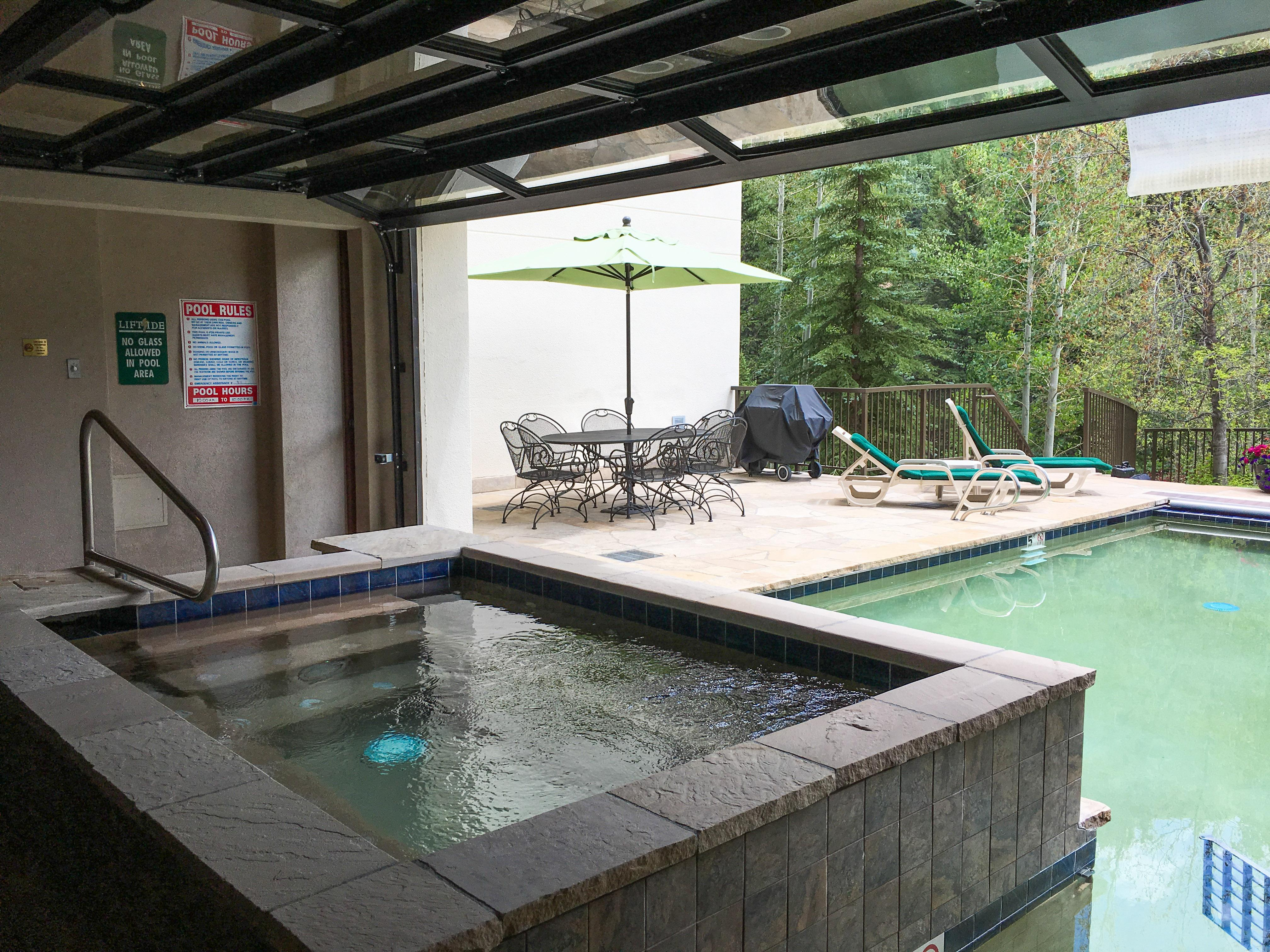 The Liftside condos have an upscale mountain lodge vibe and spectacular amenities, including multiple pools and hot tubs.