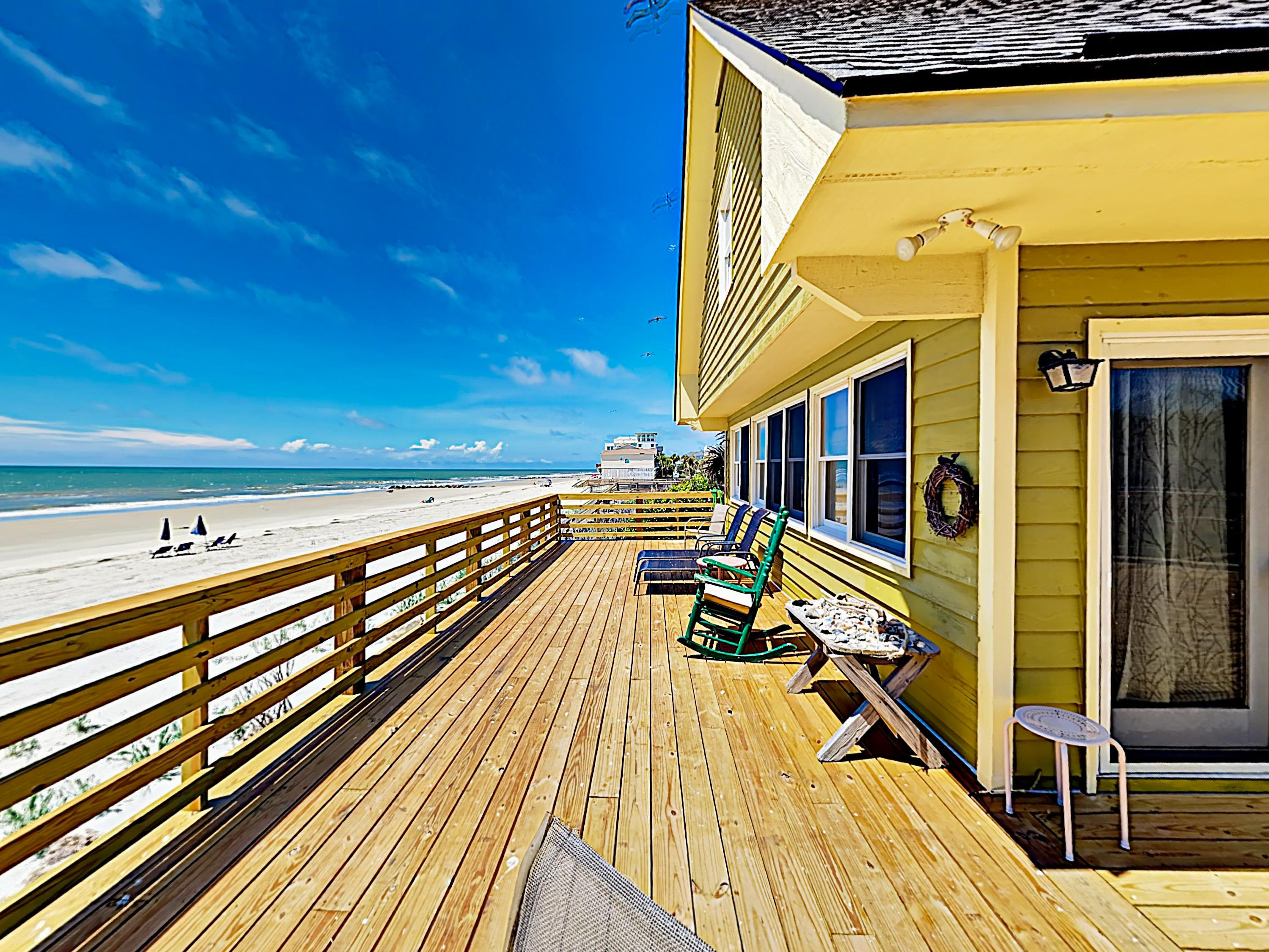 New Listing! Beachfront Getaway w/ Huge Deck
