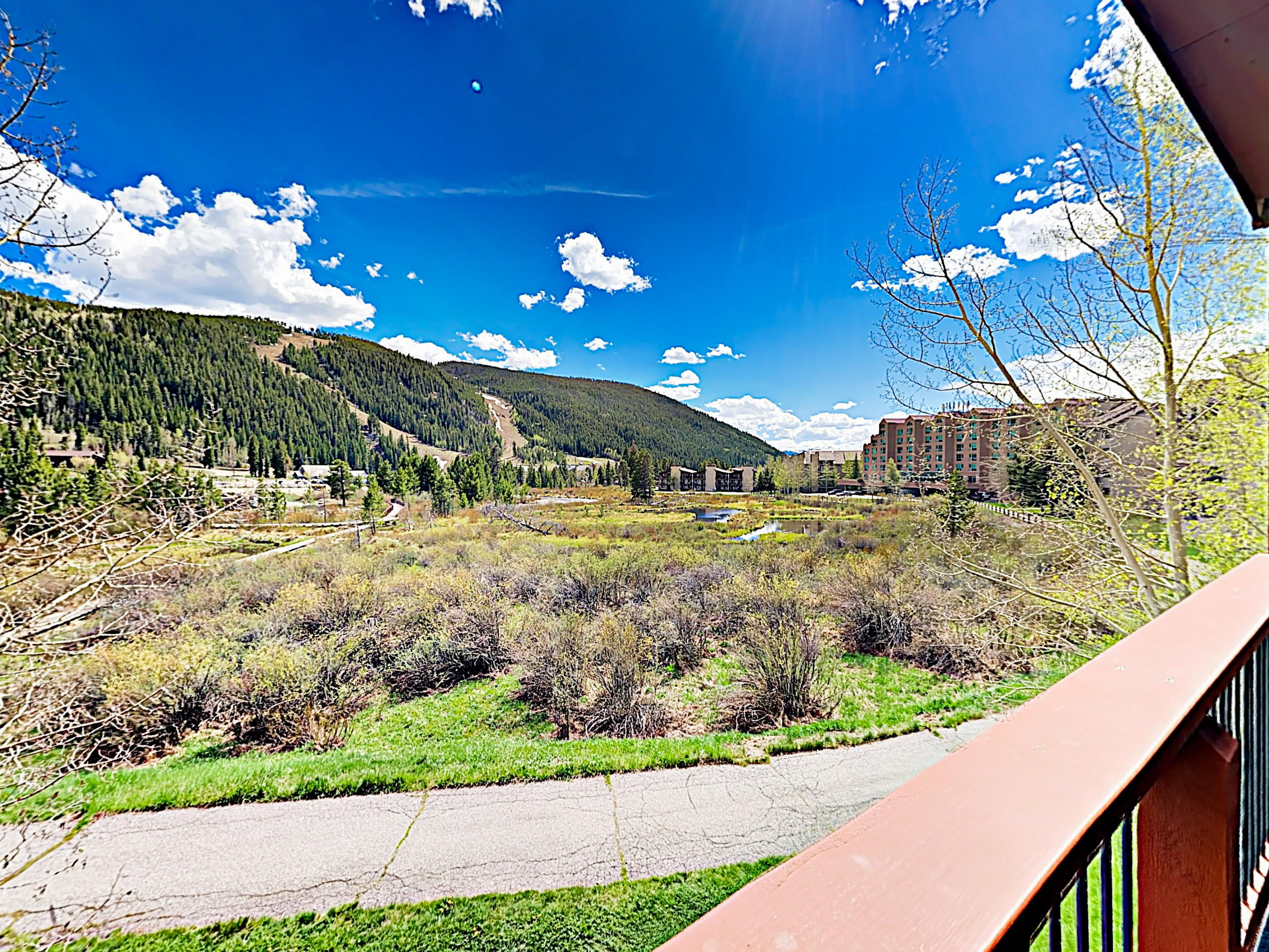 Enjoy unobstructed views of Keystone Resort from the balcony.