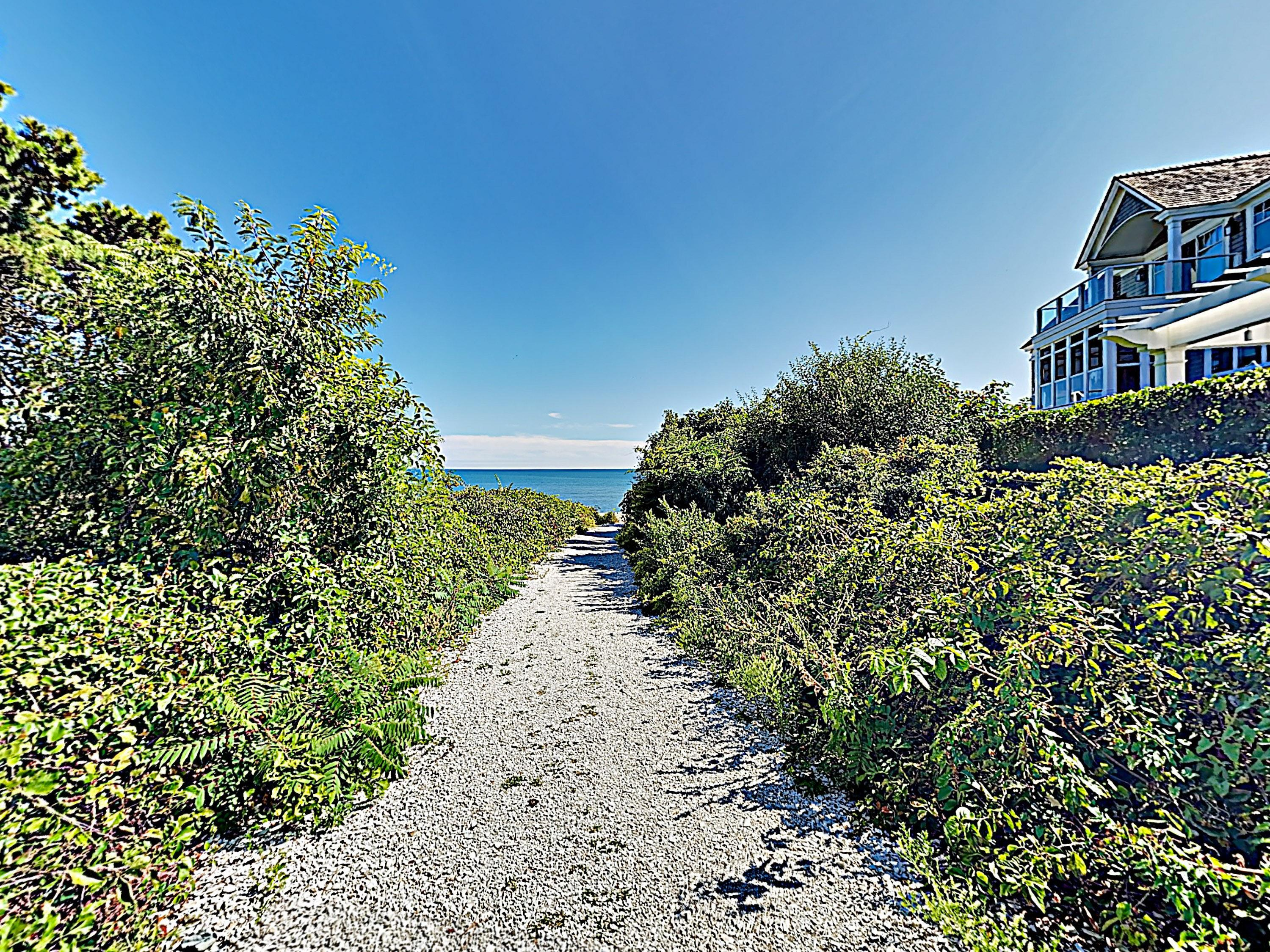 Take a stroll down to the private beach, just 100 yards away.