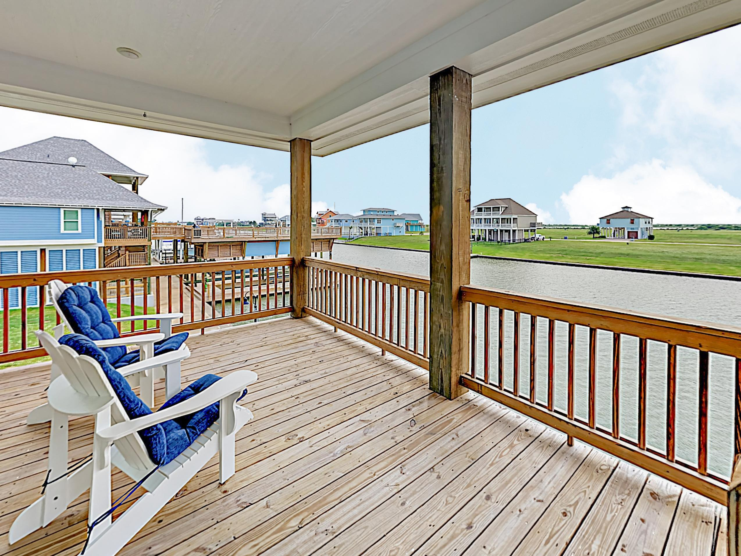 Watch the set over the water from the 2nd-story deck.