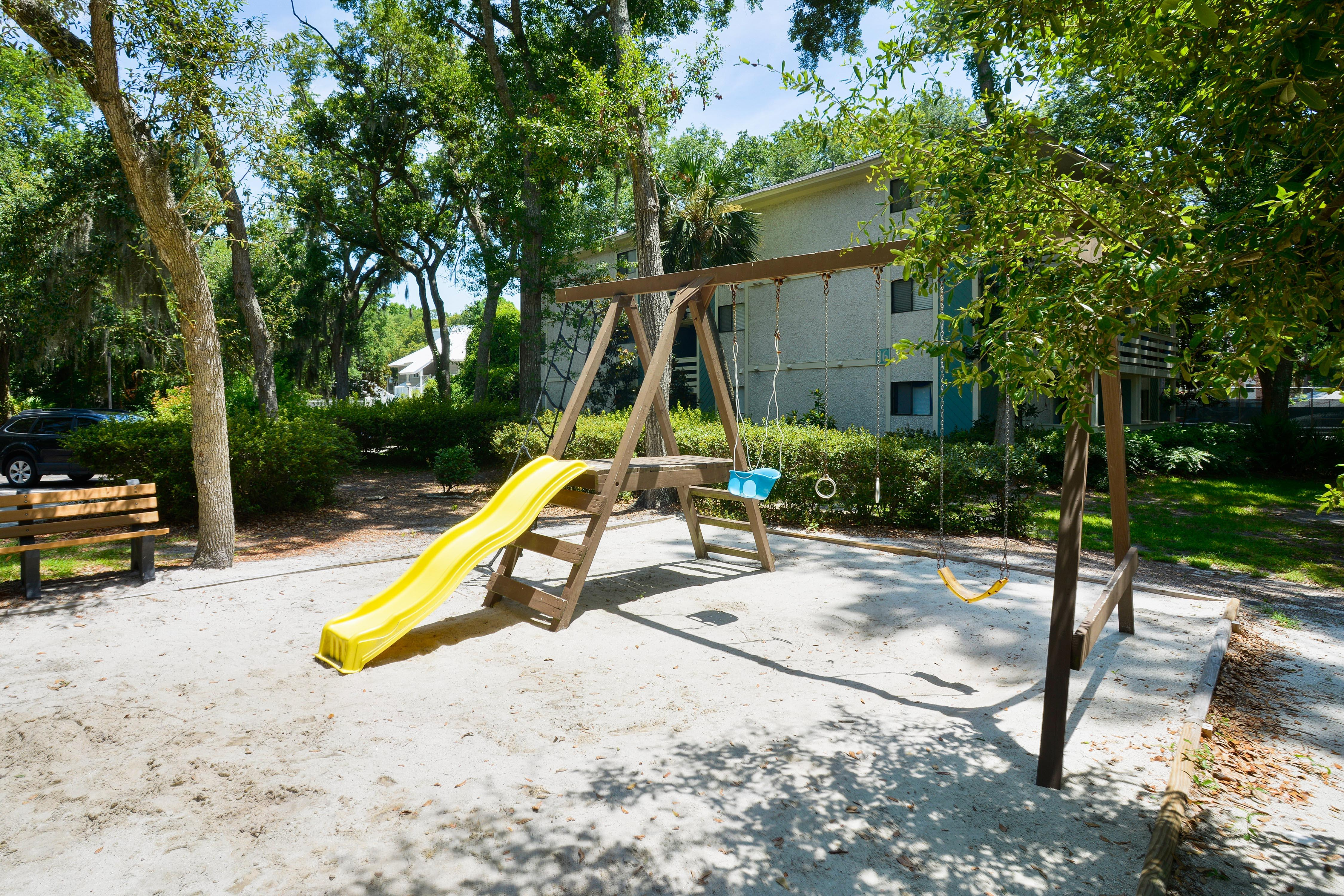 Kids will love the playground area.
