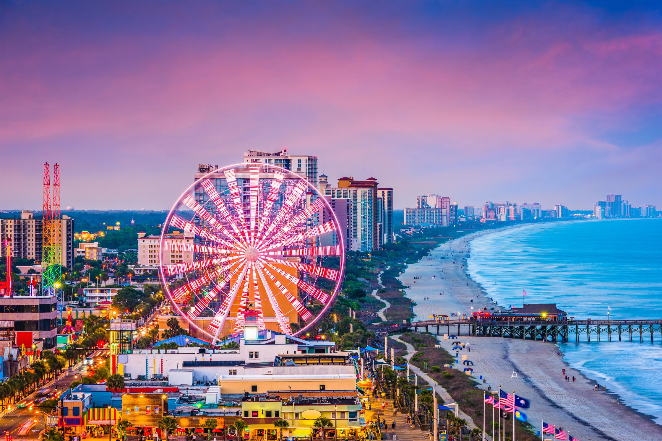 Ride the SkyWheel for a bird's-eye view of the ocean and the city.