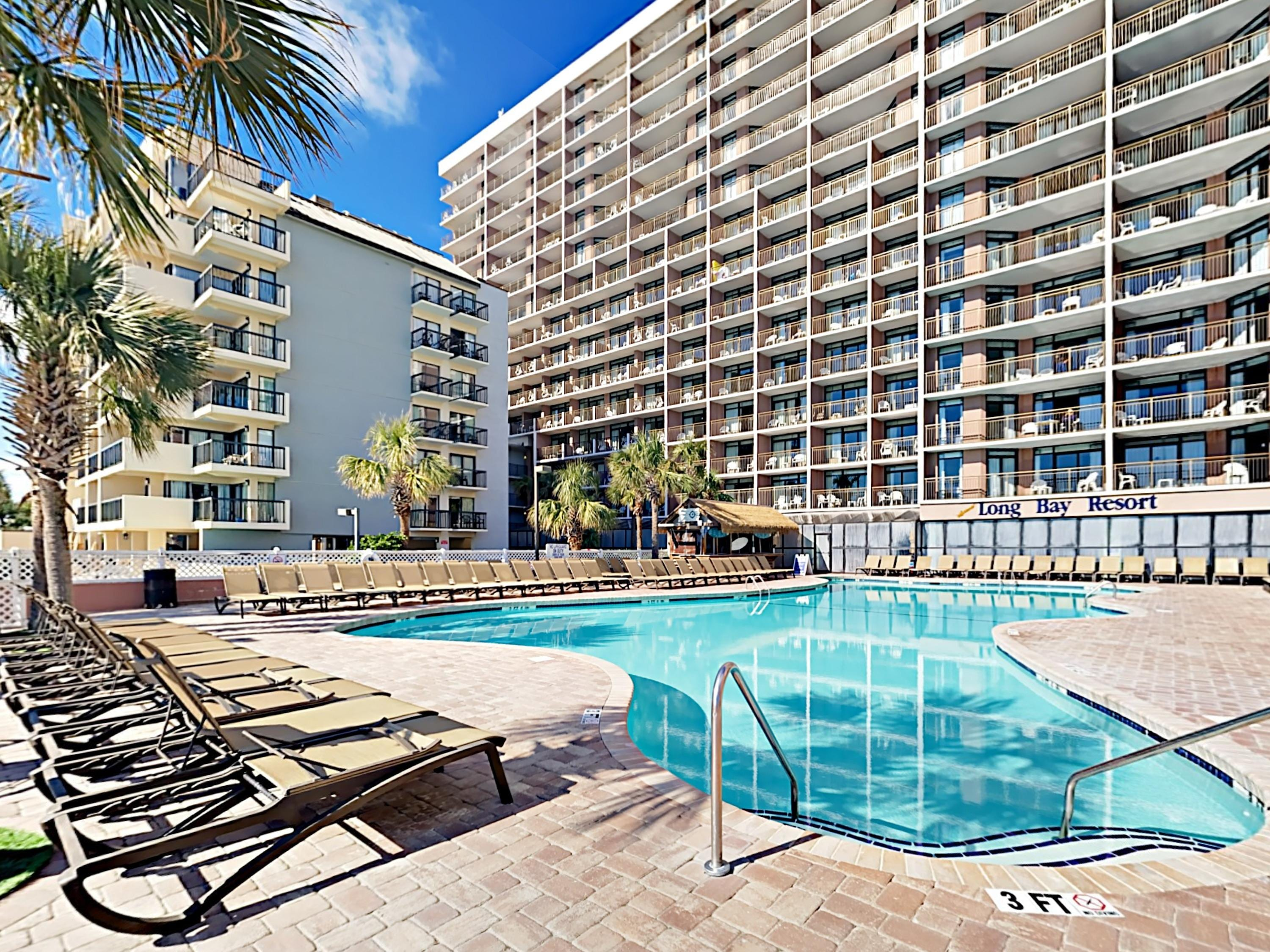 Enjoy access to a beautiful oceanfront pool!