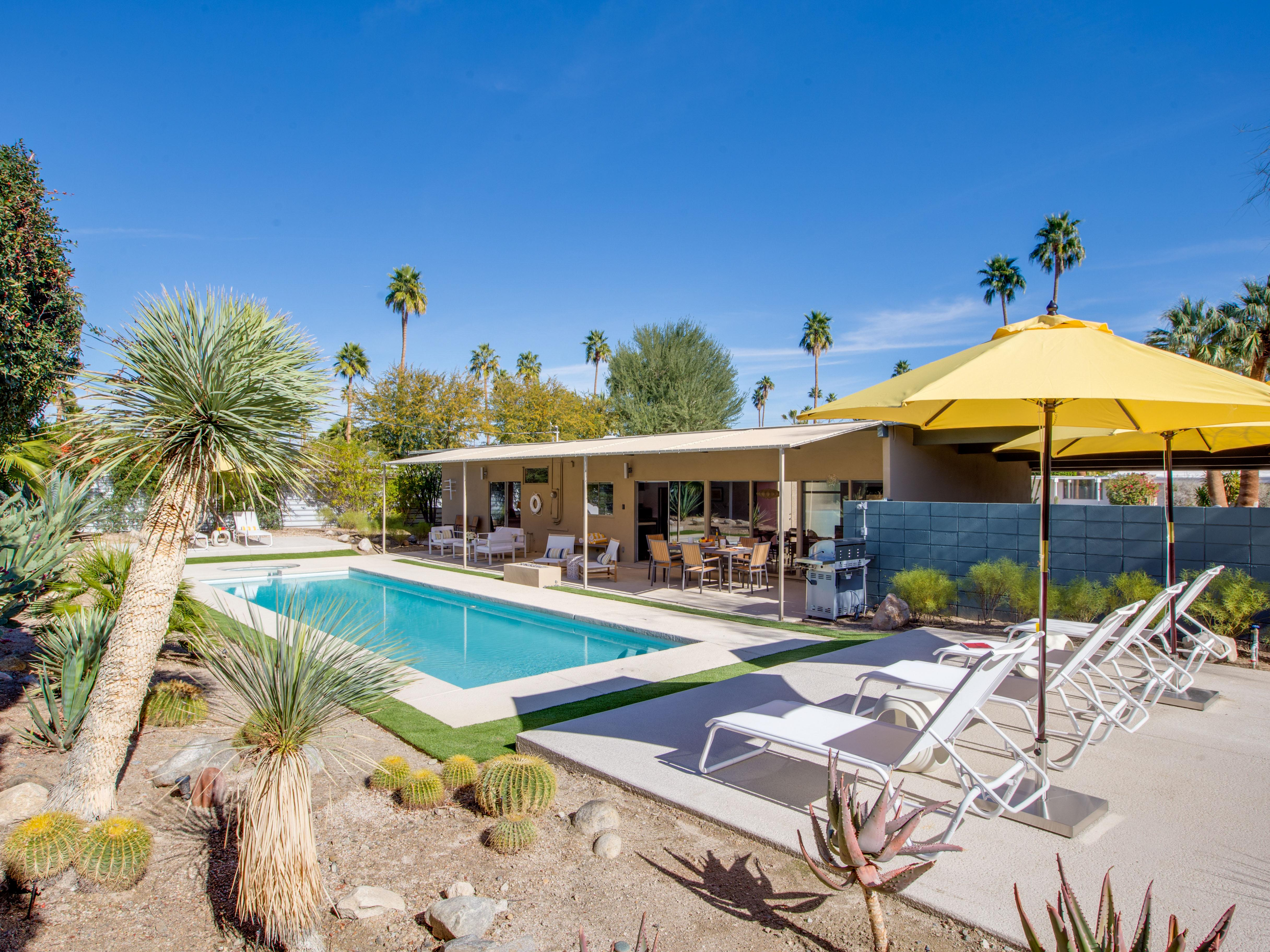 Property Image 1 - The Bowie House: Retro Retreat with Lush Poolside Oasis