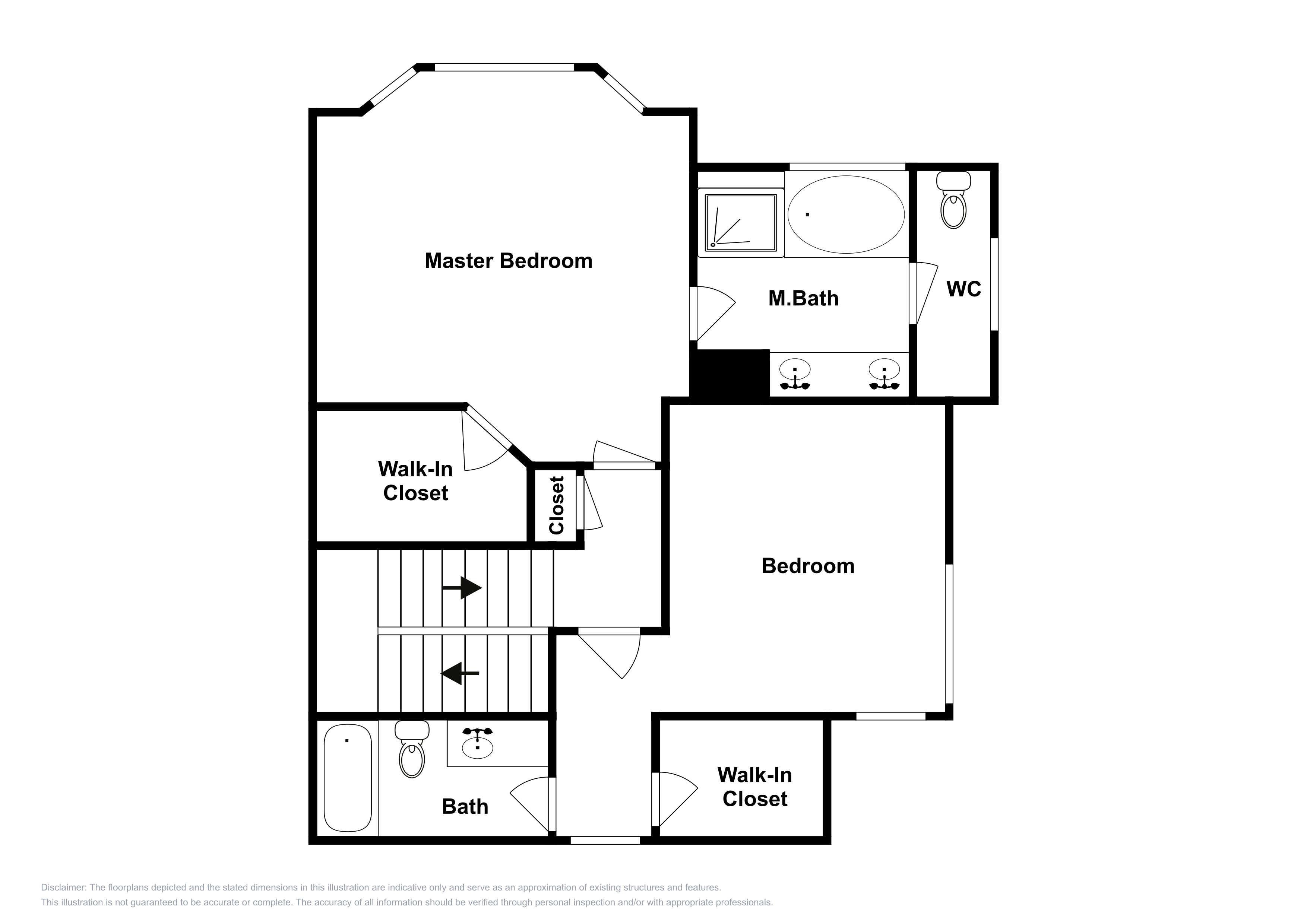 This floor plan for the 2nd floor is an approximation and may not include the most recent information.