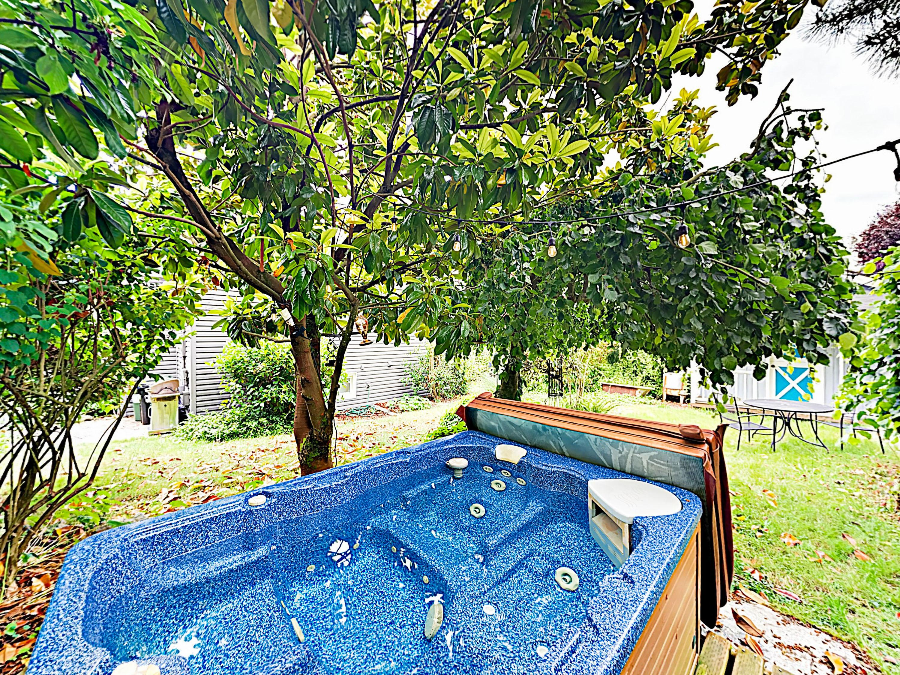 Top off perfect days with a soak in the private hot tub.