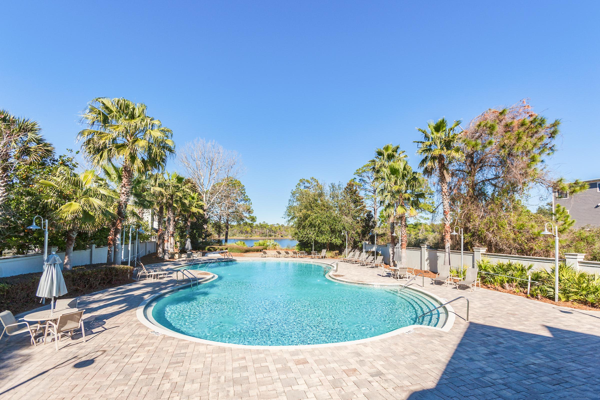 Take a dip in the resort-style pool.