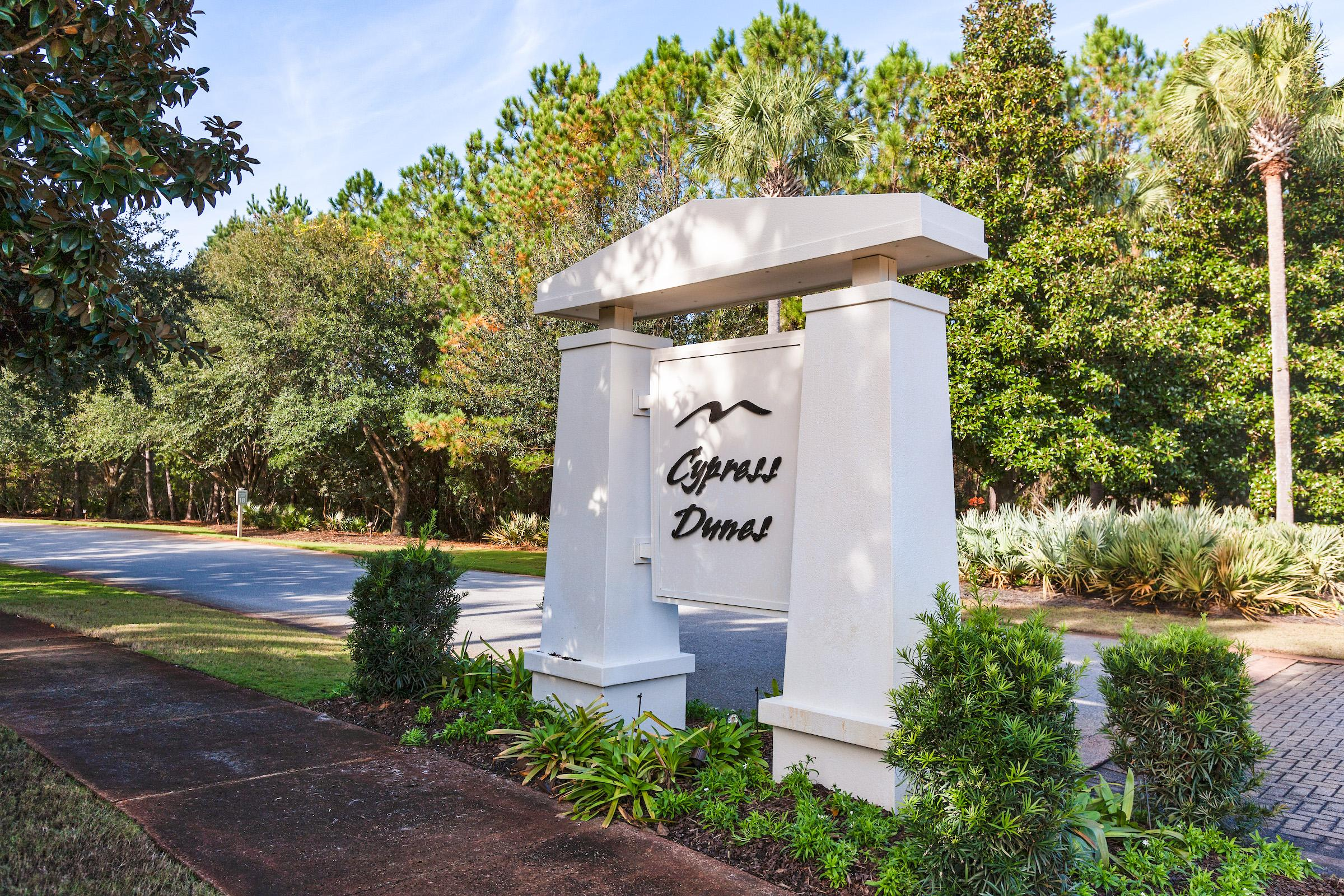 Your rental is located in the luxurious coastal community of Cypress Dunes.