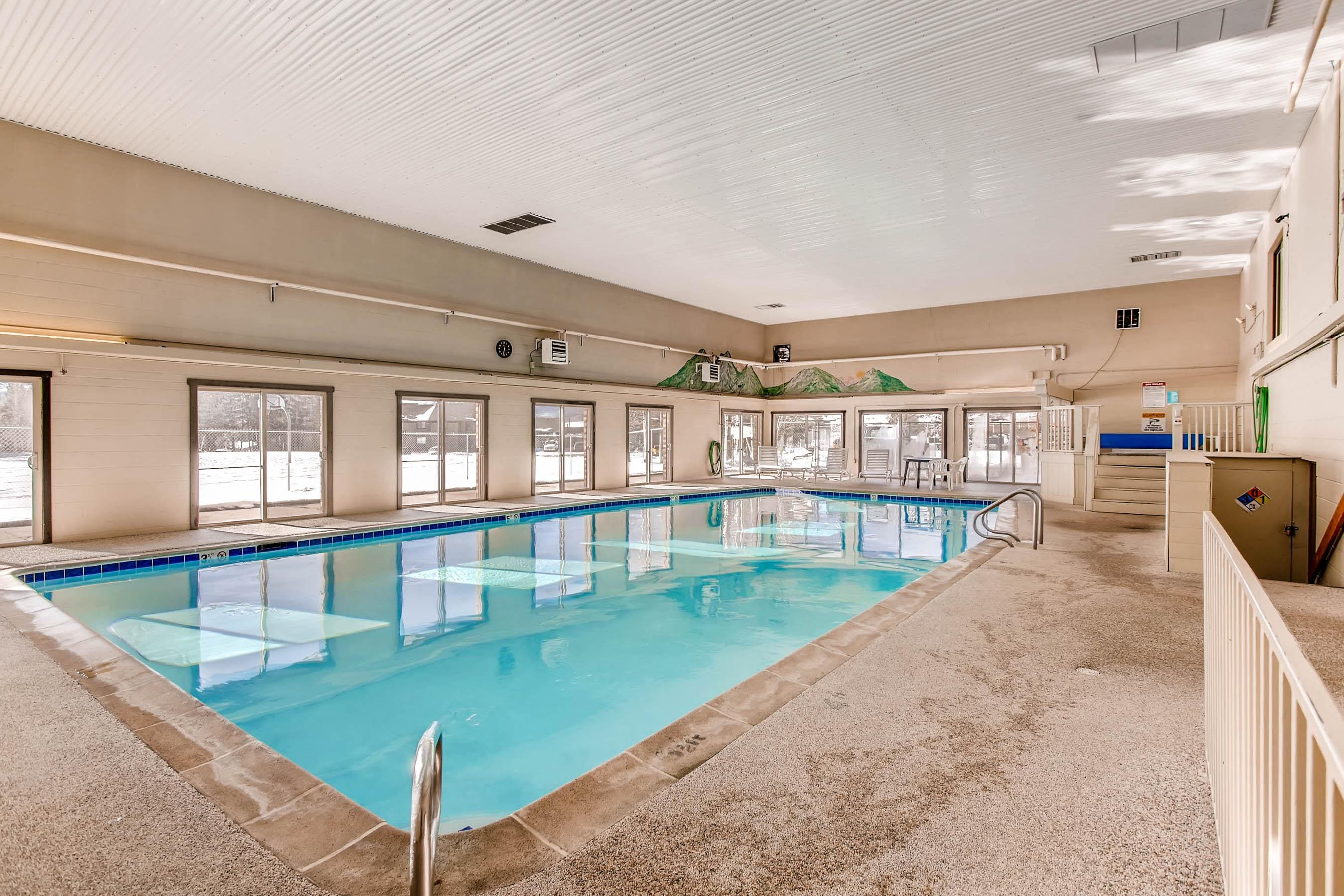 Take a dip in the indoor heated pool, just steps from your unit.