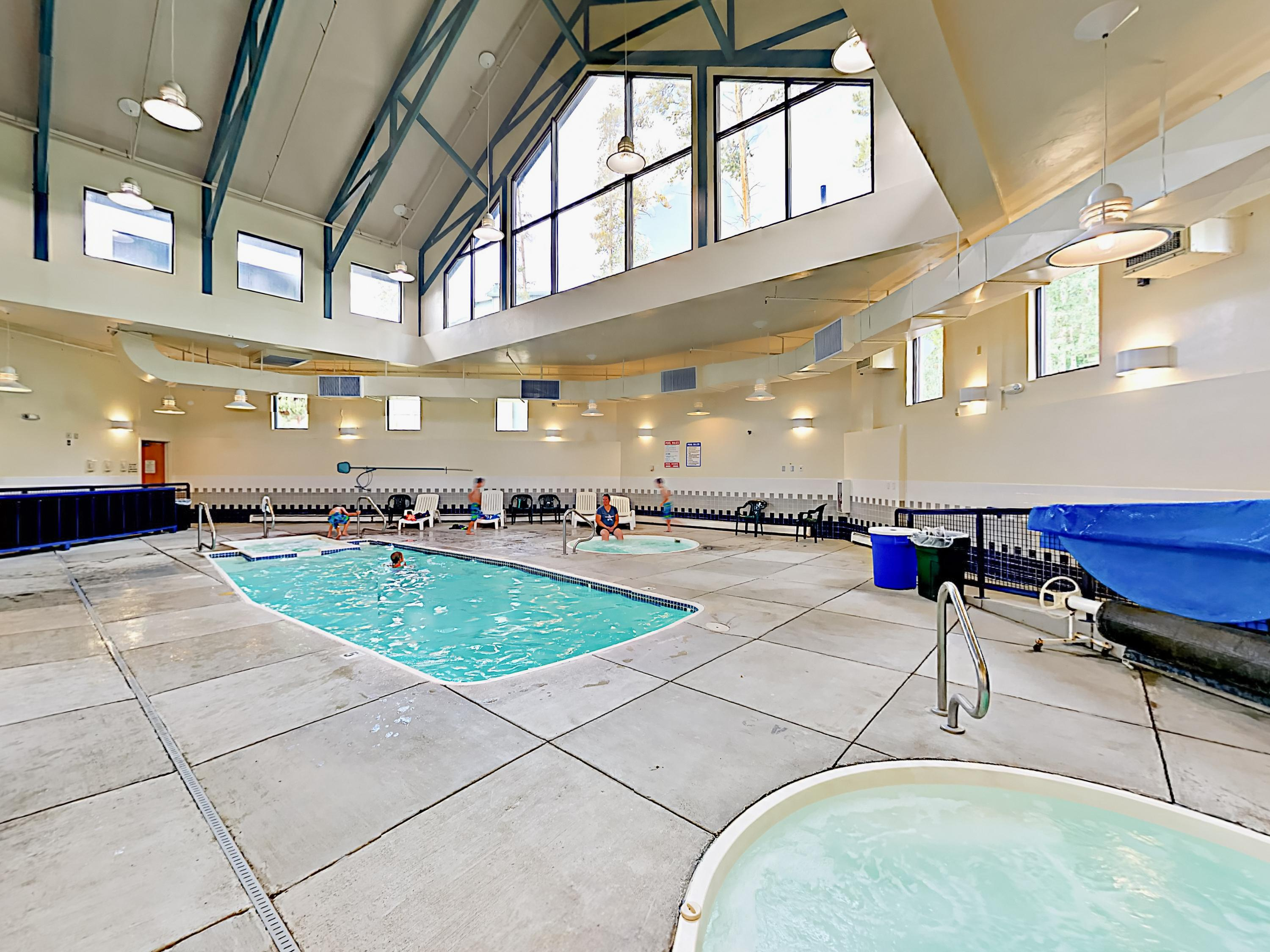 Head to the clubhouse to swim in the heated, year-round pool and soak in 2 bubbling hot tubs.
