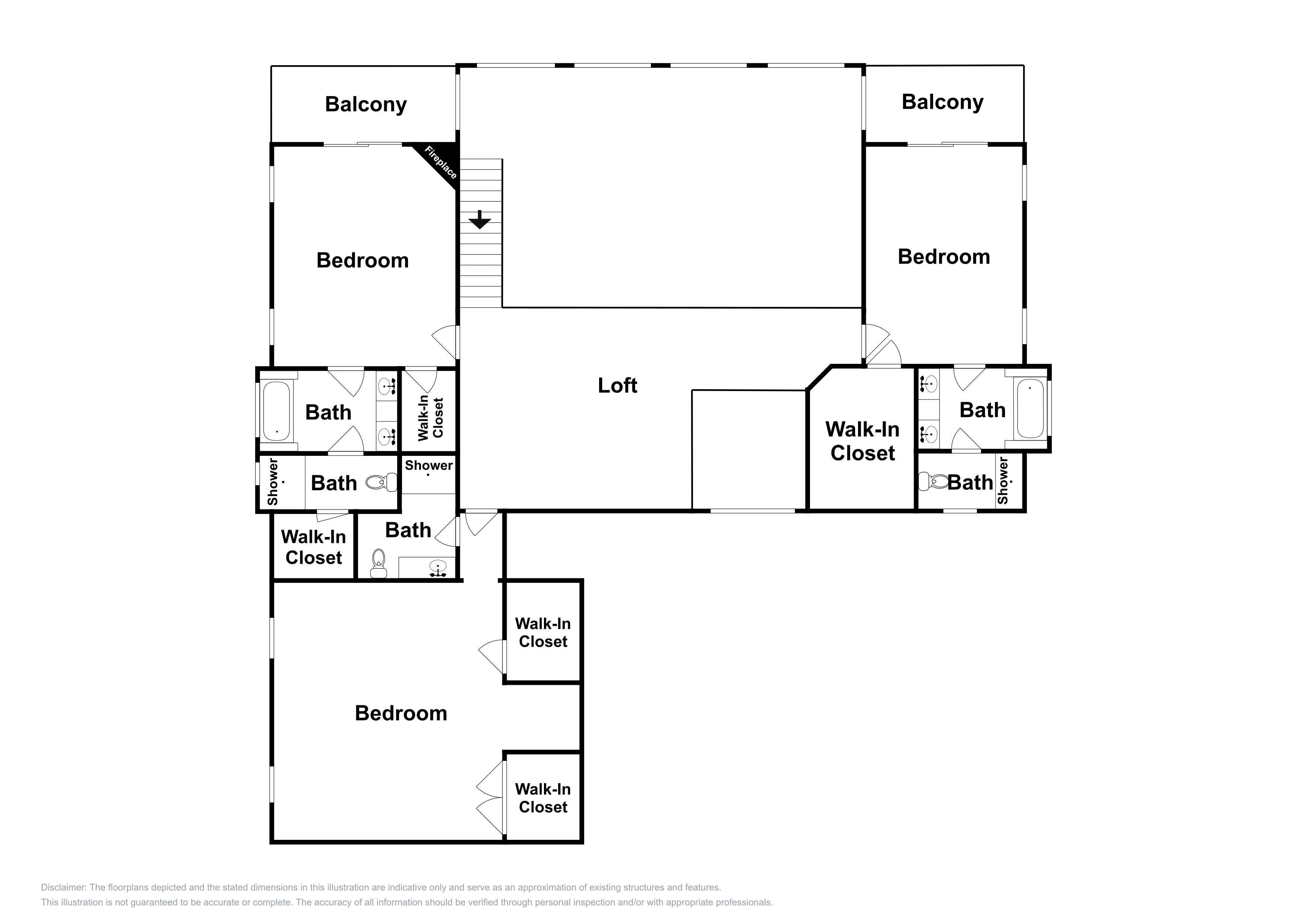 This floor plan of the 2nd floor is an approximation and may not include the most recent information.