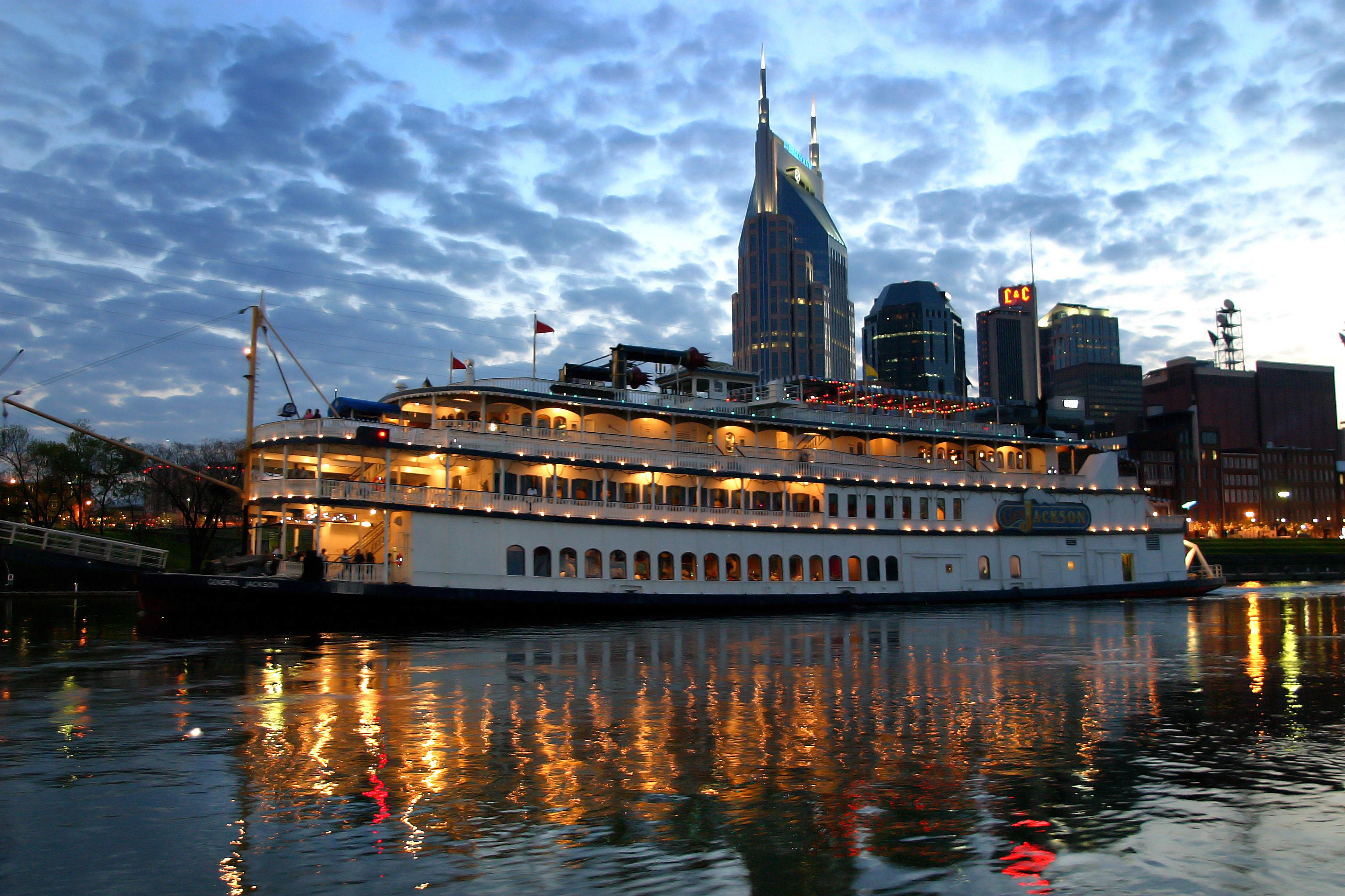 Walk along the Cumberland River in the heart of downtown Nashville.