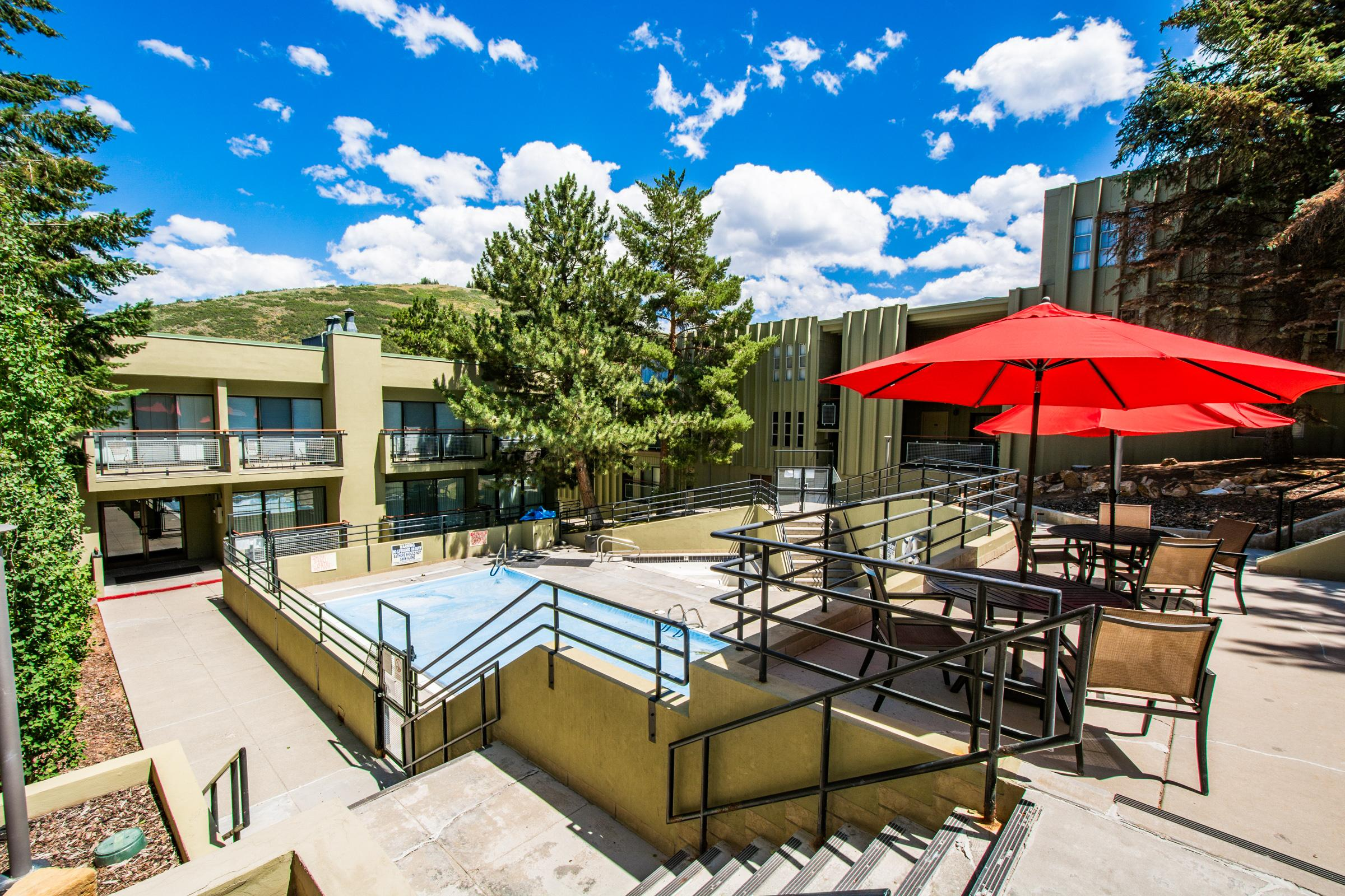 Enjoy access to an on-site pool and hot tub - open year-round!