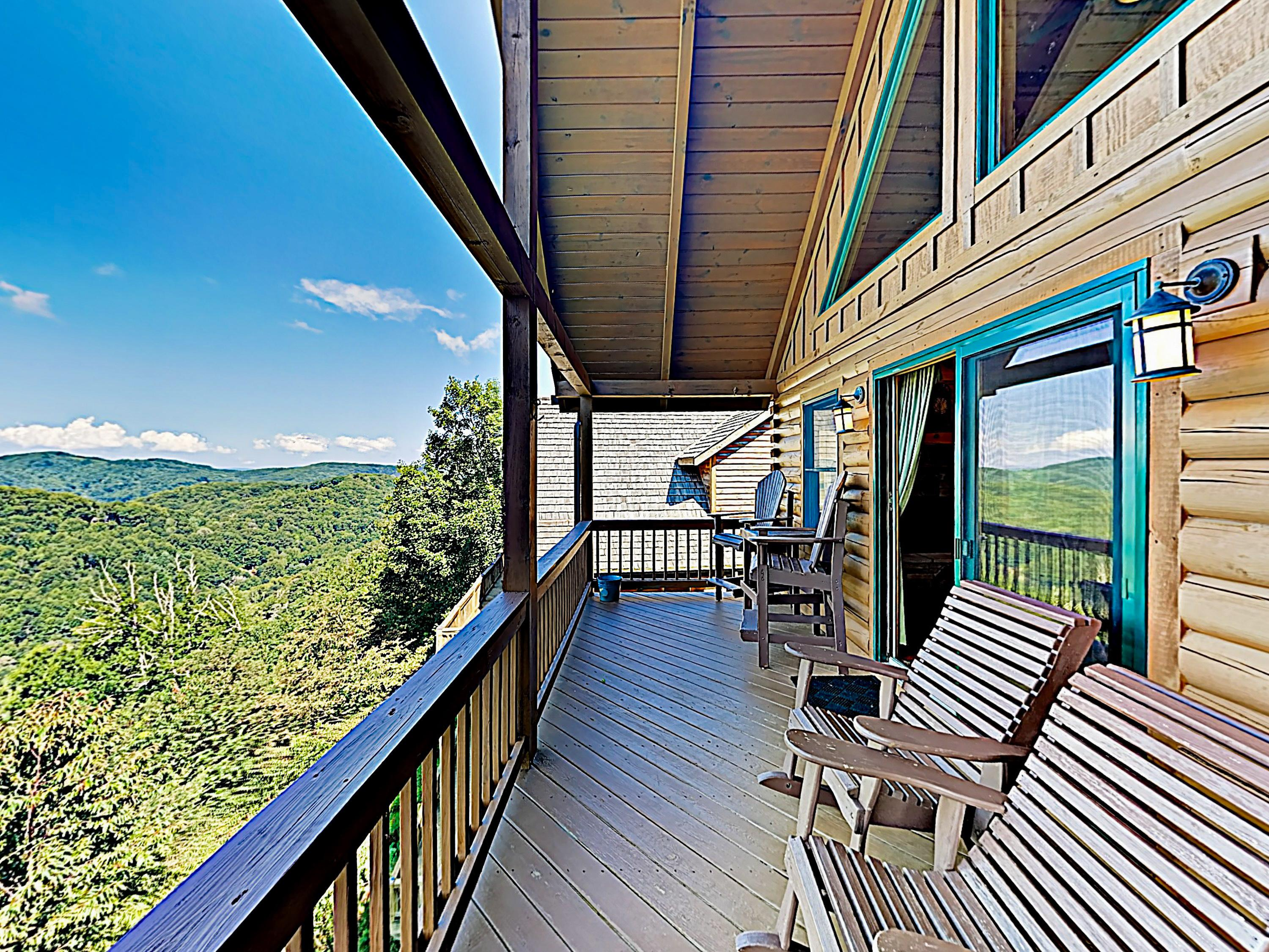 Welcome to Mars Hill! This Scenic Wolf Resort cabin is professionally managed by TurnKey Vacation Rentals.  Kick back with a cold drink on the main-level deck and enjoy the breathtaking view.