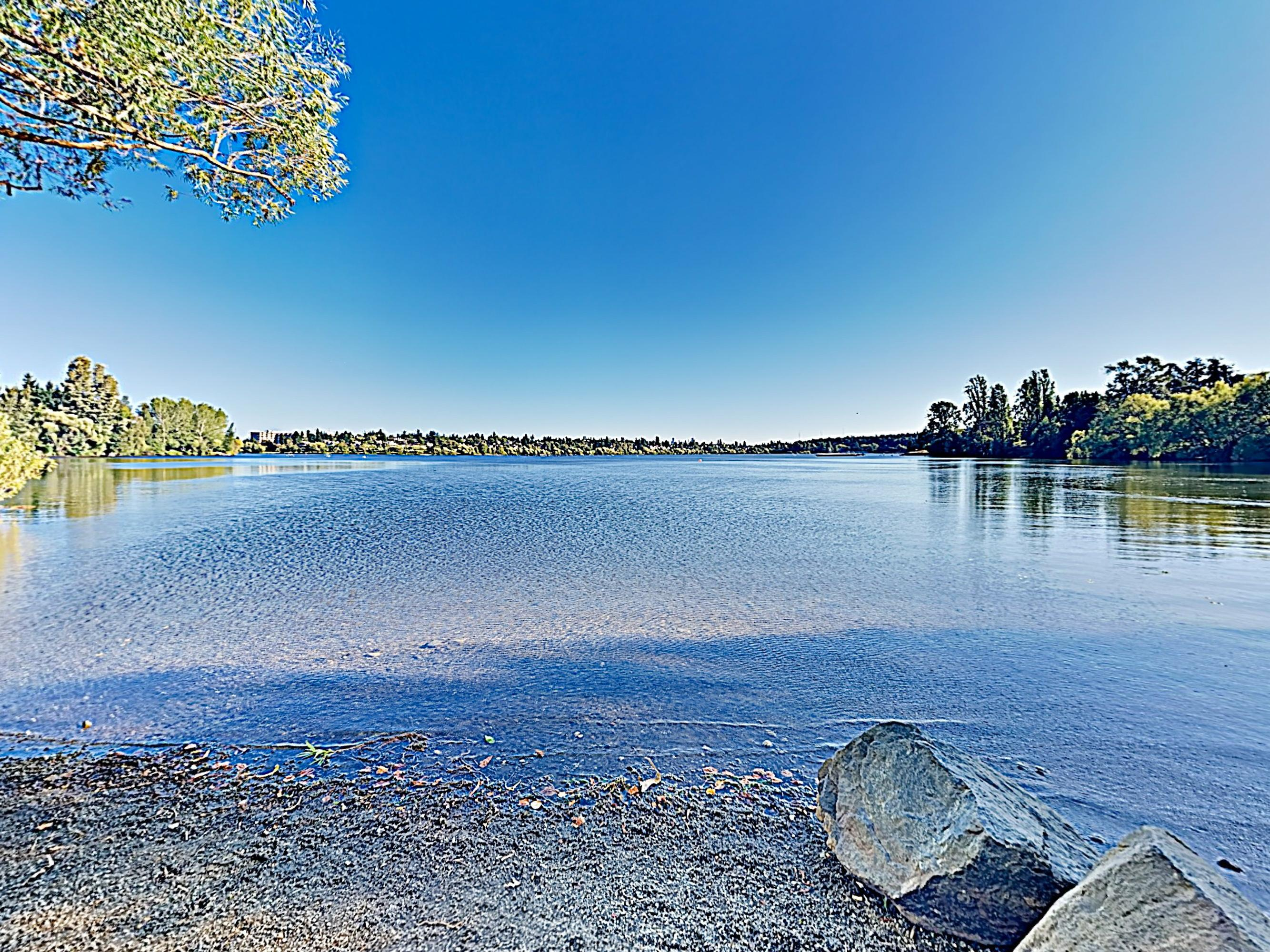 Shimmering Green Lake is a short walk from your door.