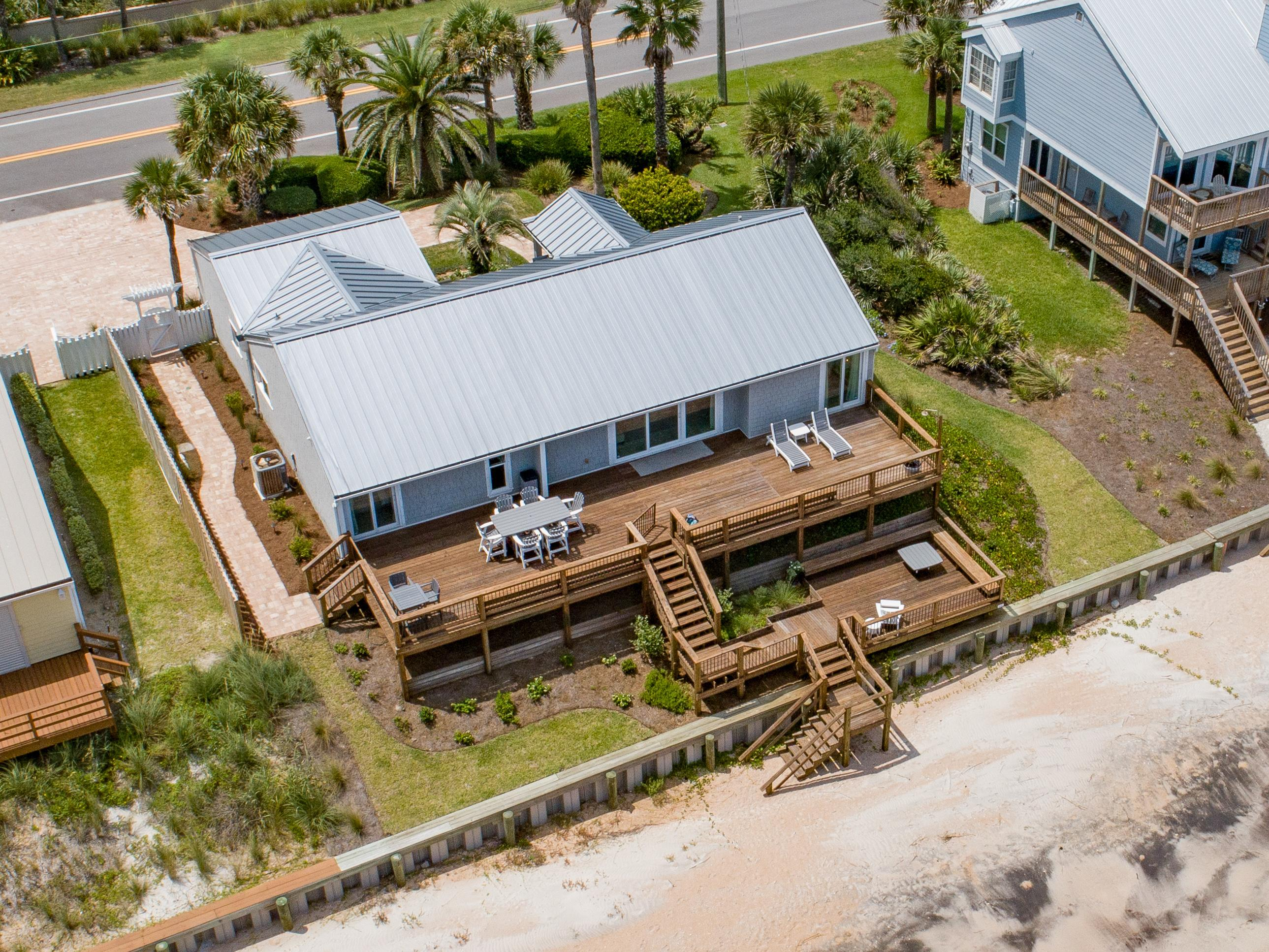 This quiet beachfront gem features private access to the beach.