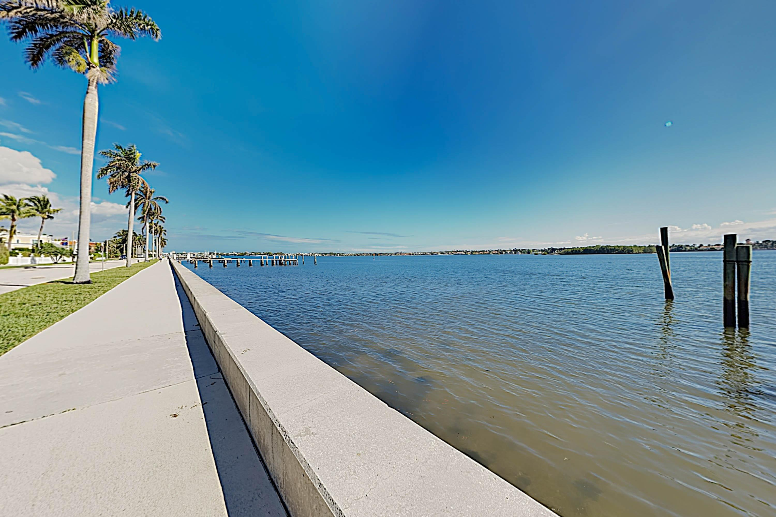 Stroll along the waterway just 1 block from your door.
