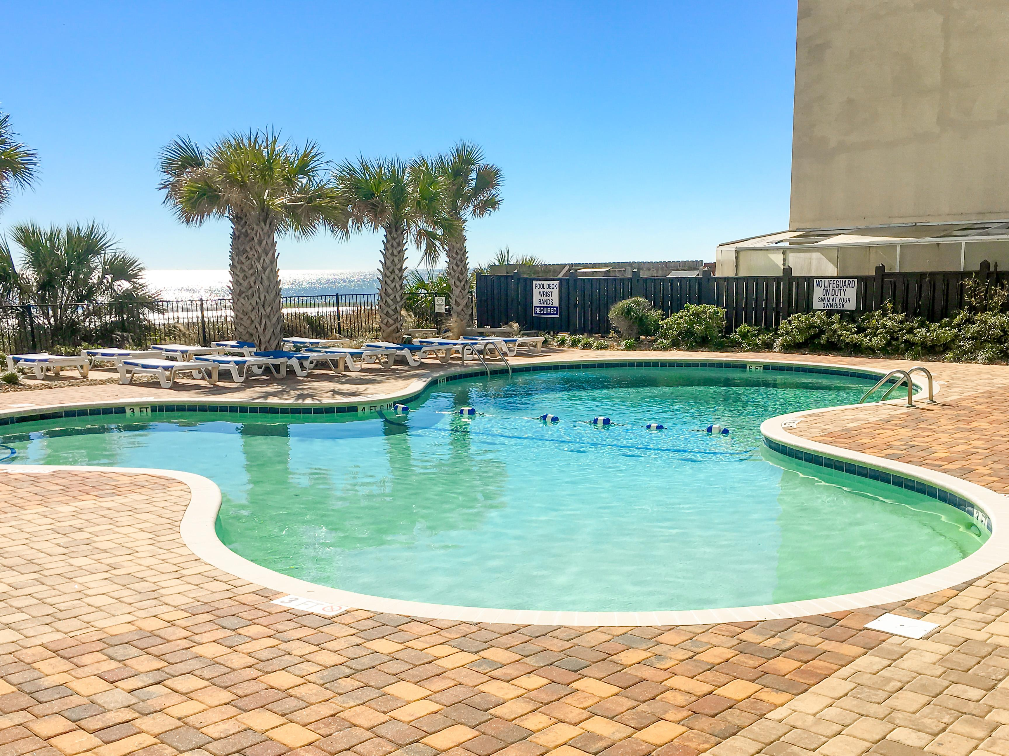 Your rental includes access to 2 outdoor pools (1 heated).