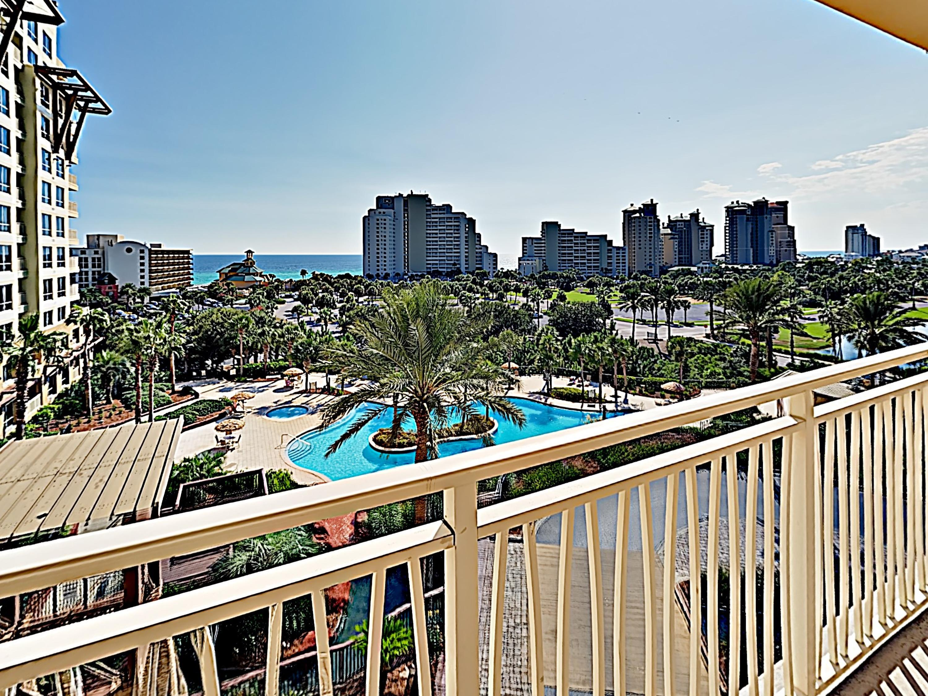 Take in spectacular views of the Gulf and the resort grounds from the comfort of your balcony.