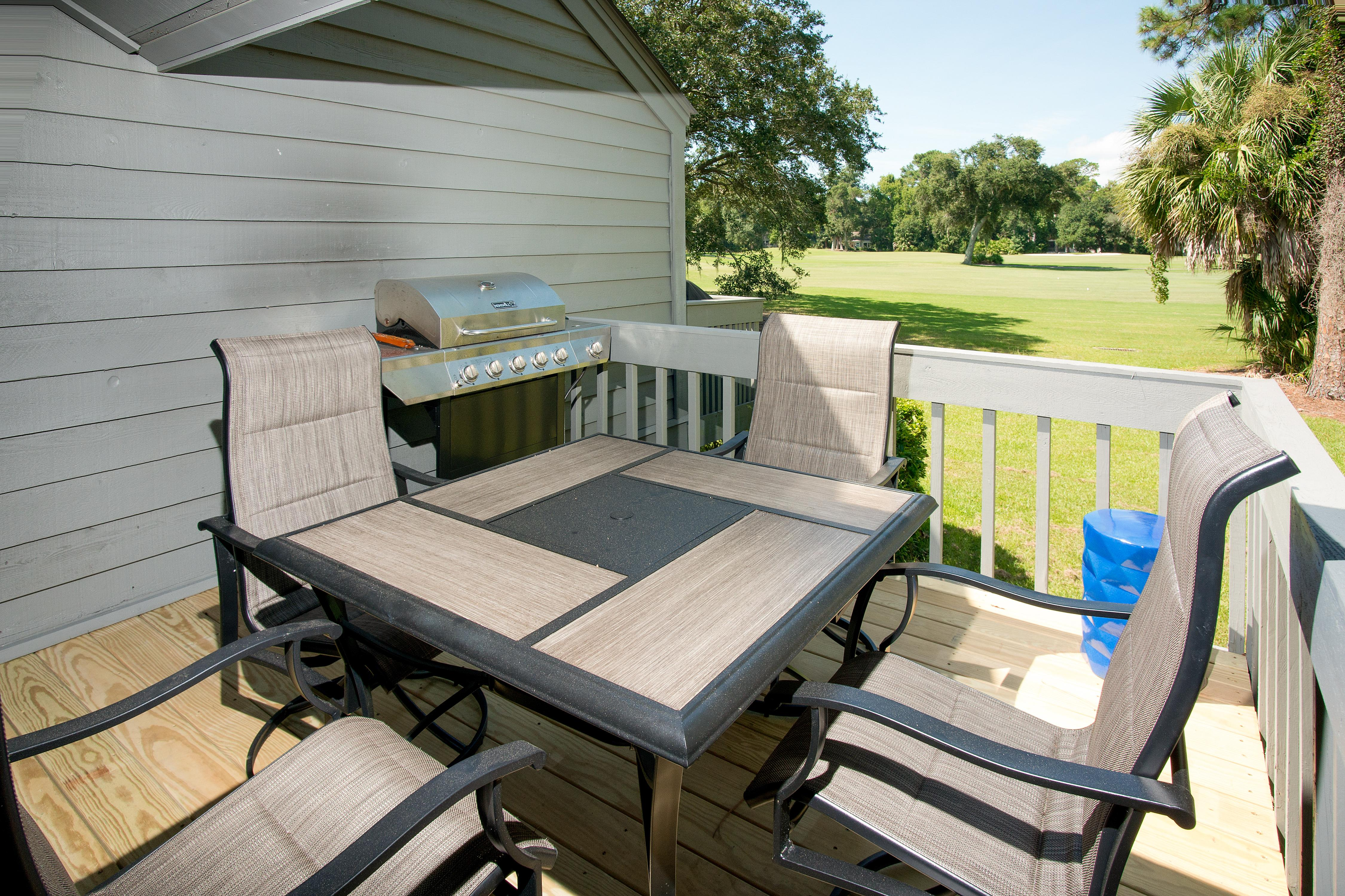 Share alfresco meals on the elevated back deck.