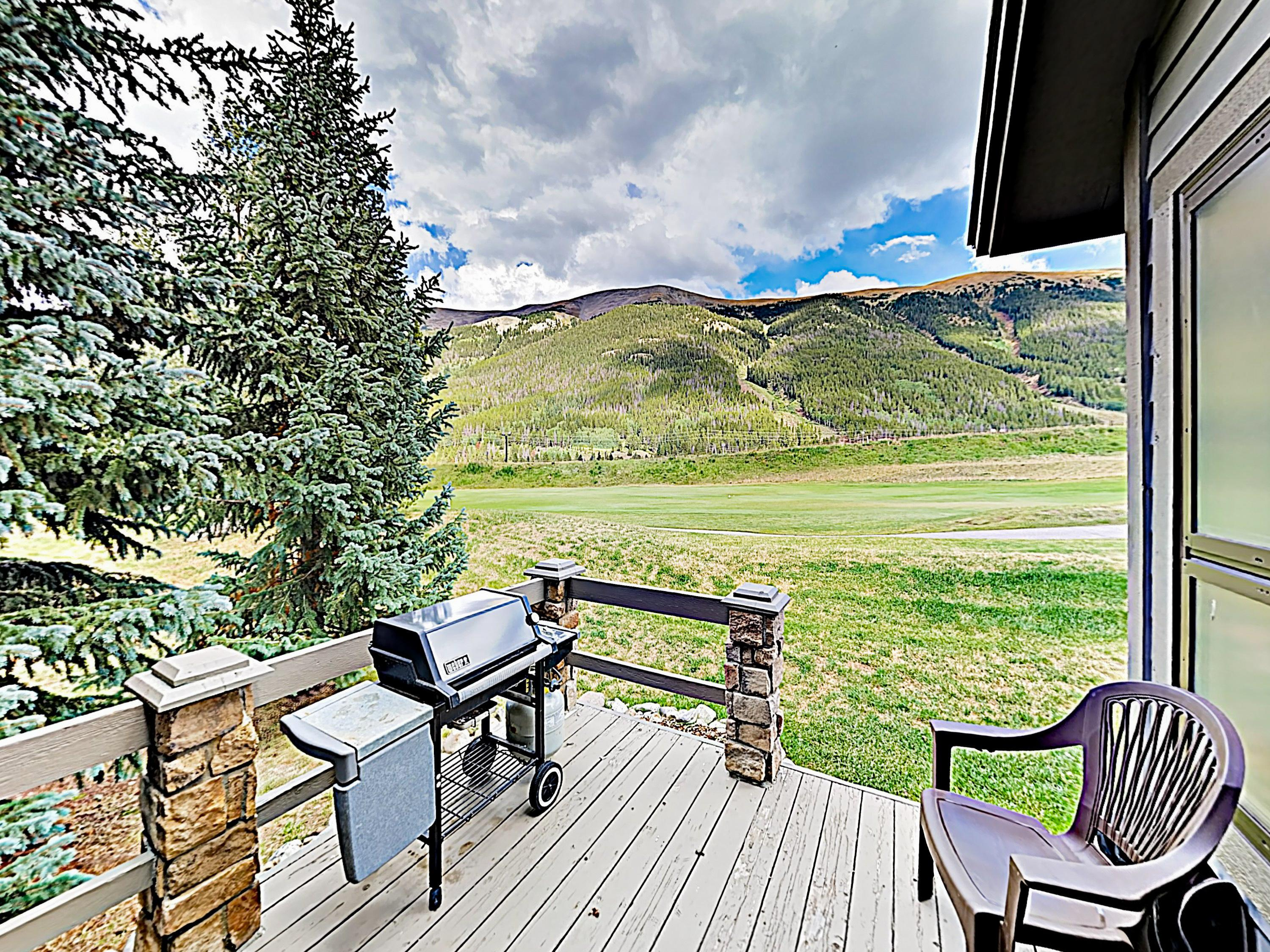 Enjoy mountain and golf course views from the private patio.