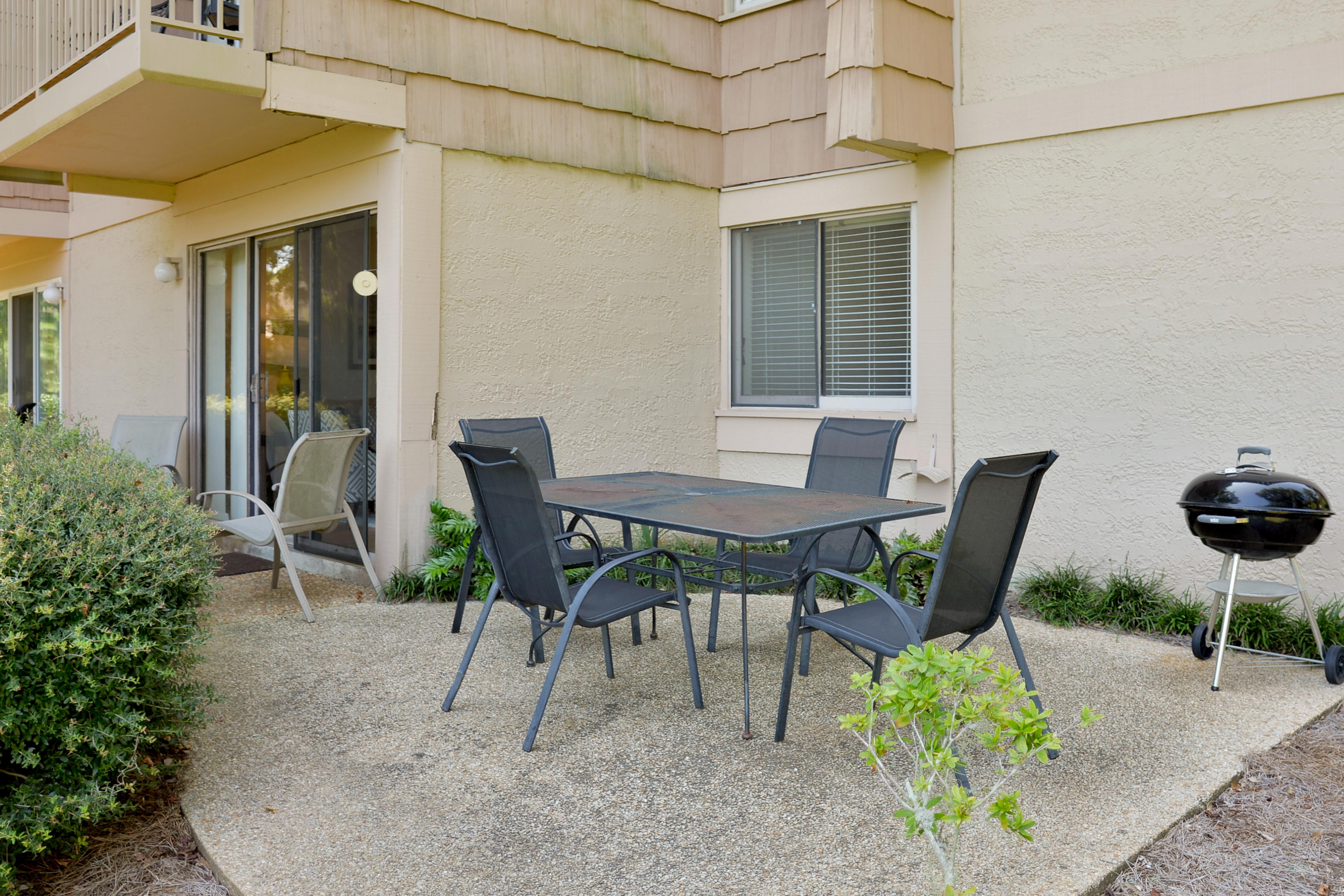 Start the day with breakfast outdoors on your own patio.