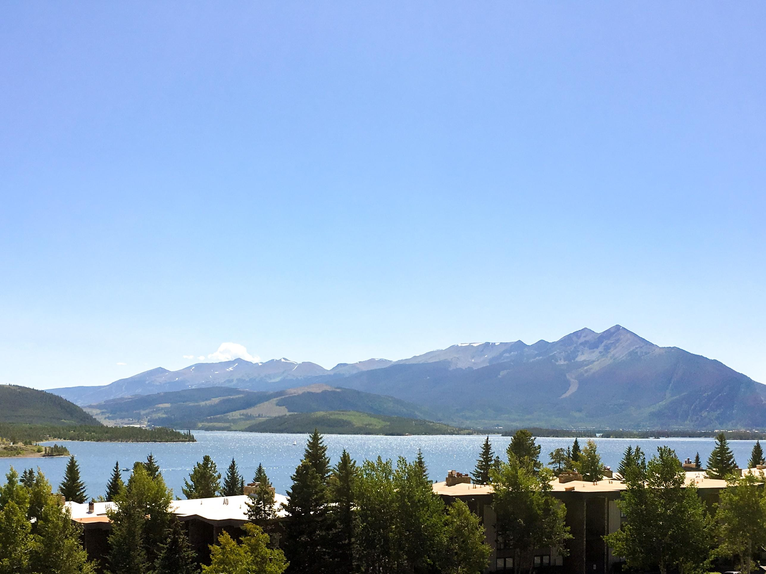 Views of Dillon Lake and the Tenmile Range await on 2 balconies.