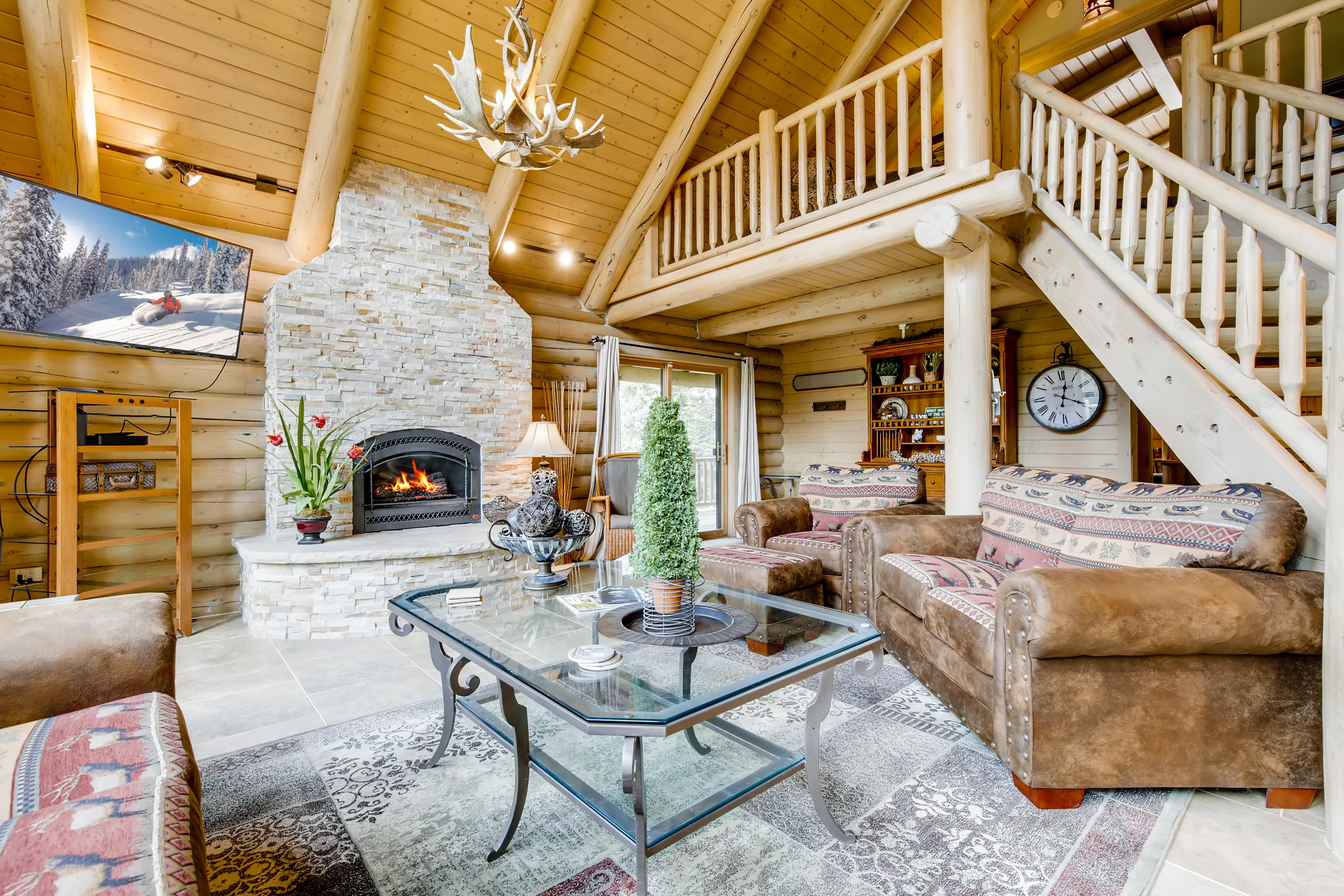 Mountain Home with Log Cabin Feel