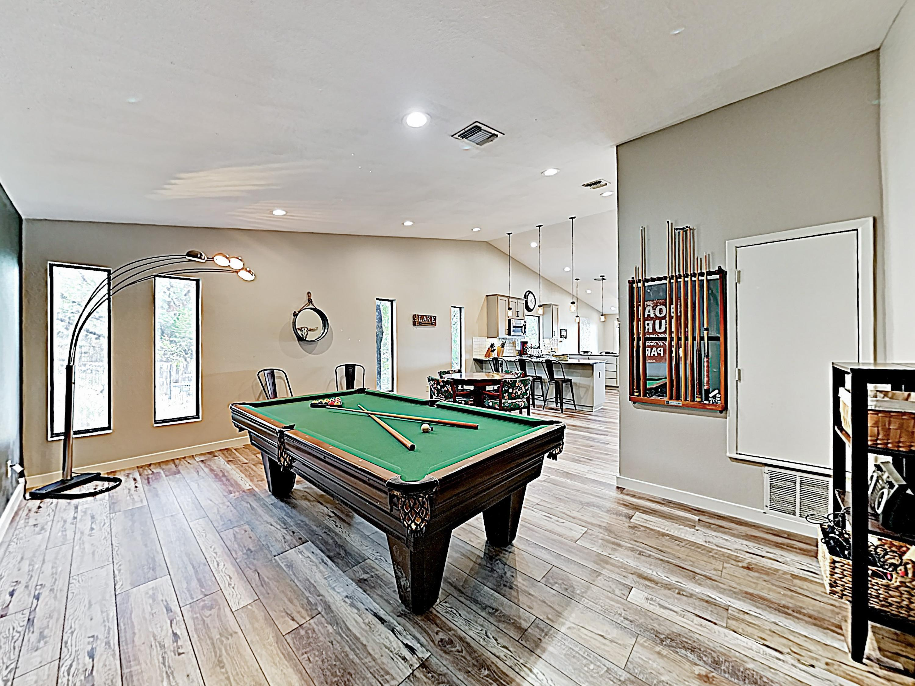 Hours of family fun await in the well-appointed game room!