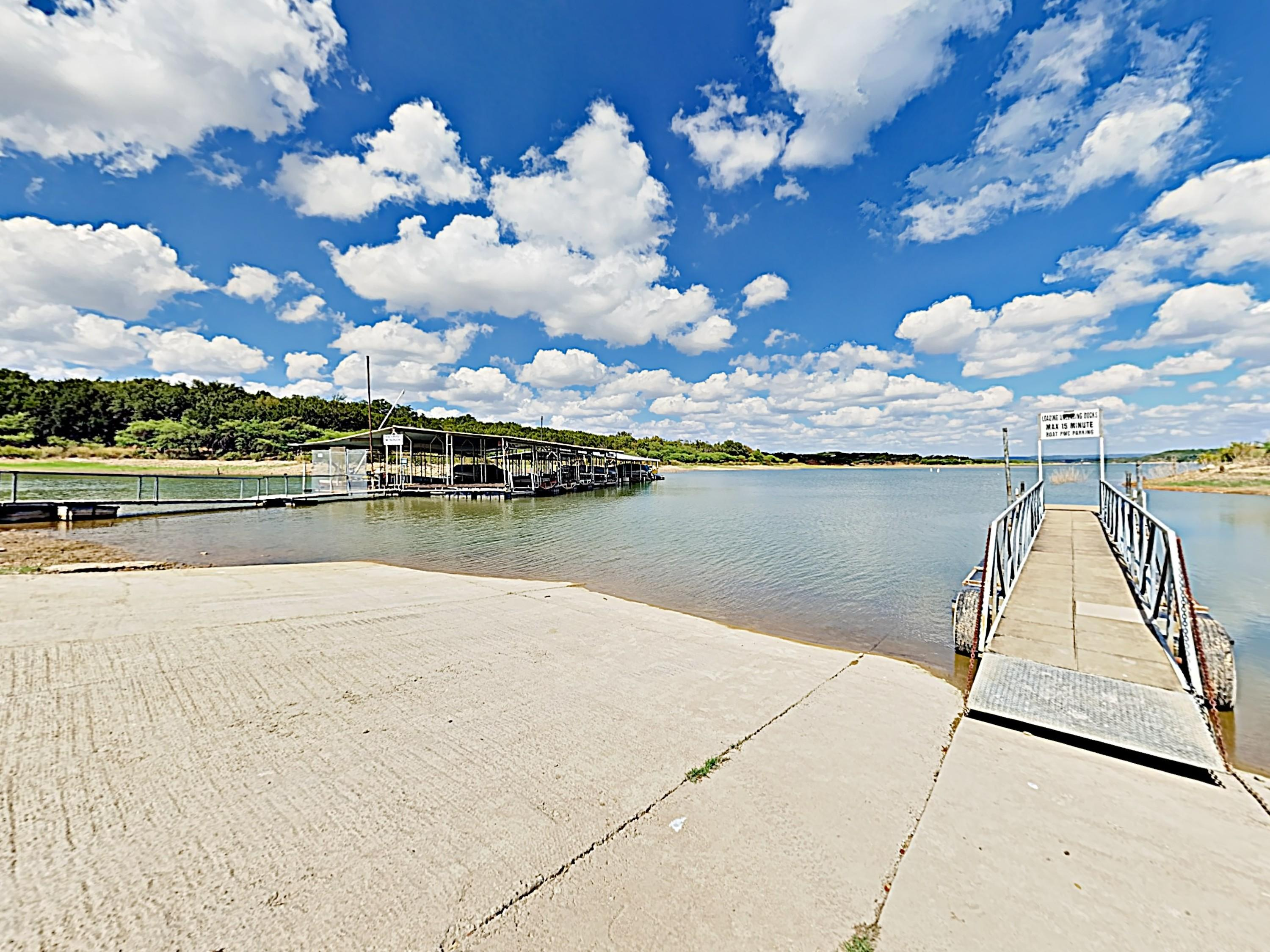Bring your boat (or rent one) and make use of the nearby boat ramp and dock.