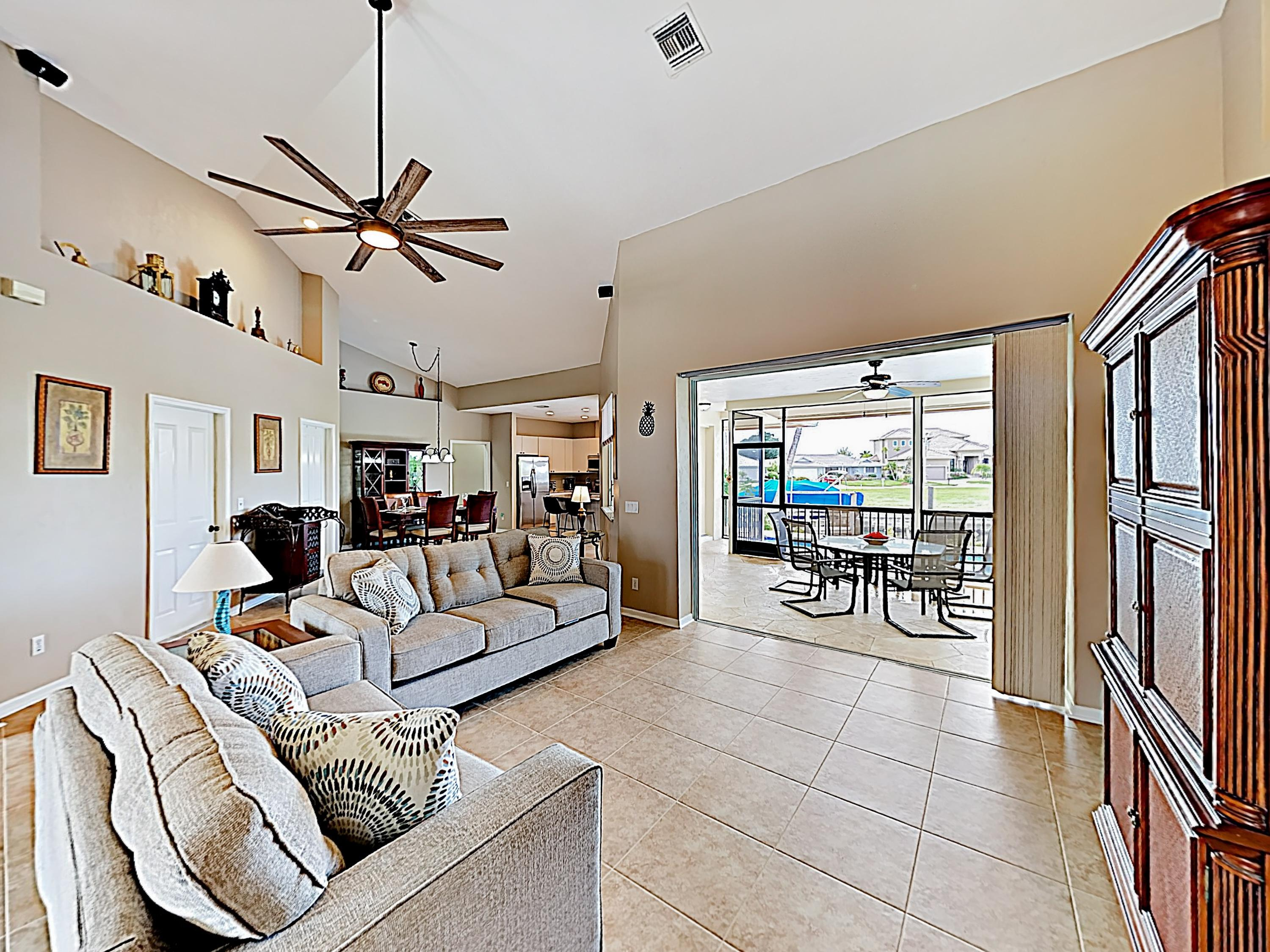 The sprawling main living area offers a fantastic social space.