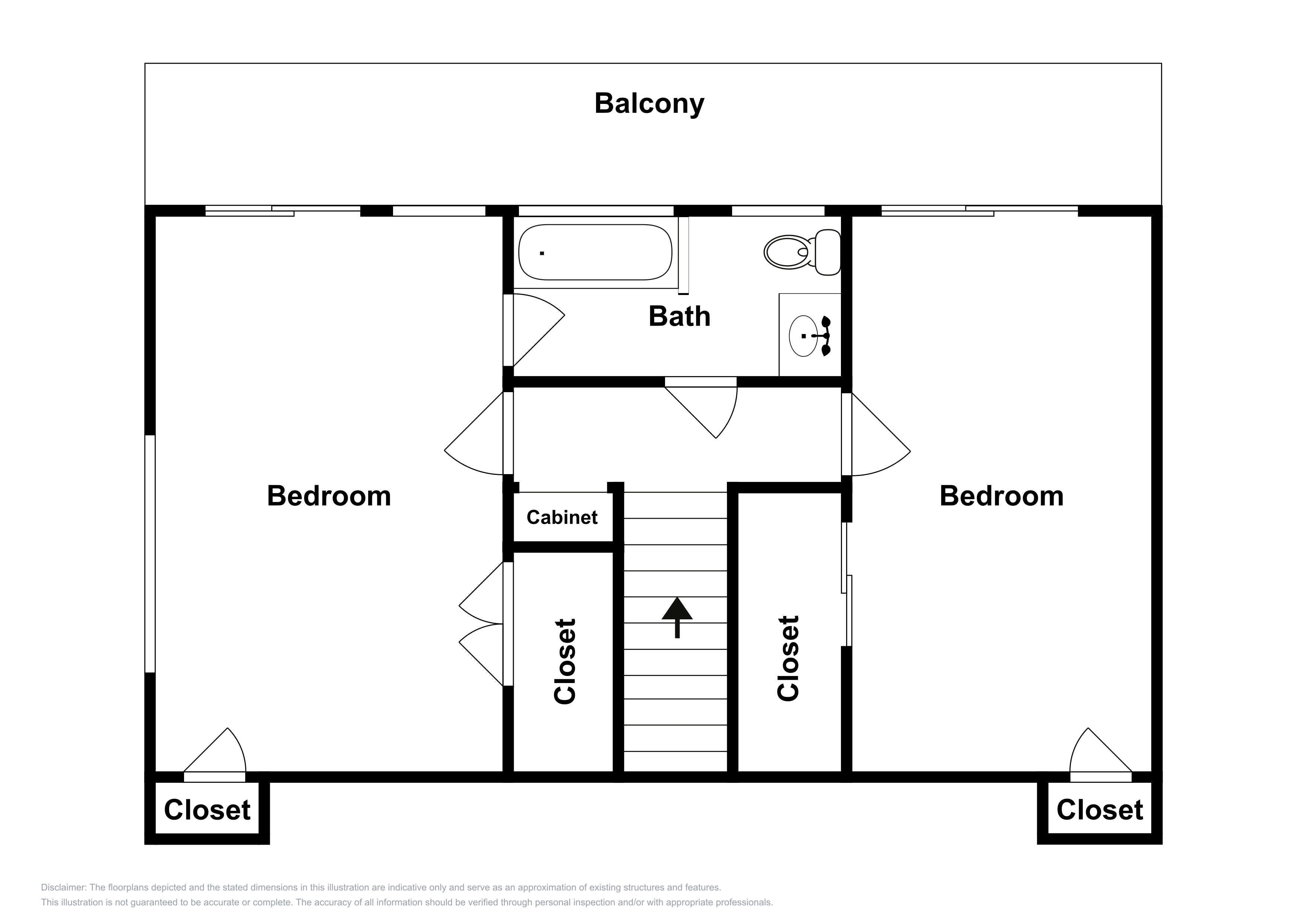 This upper-level layout is an approximation and may not include the most recent information.