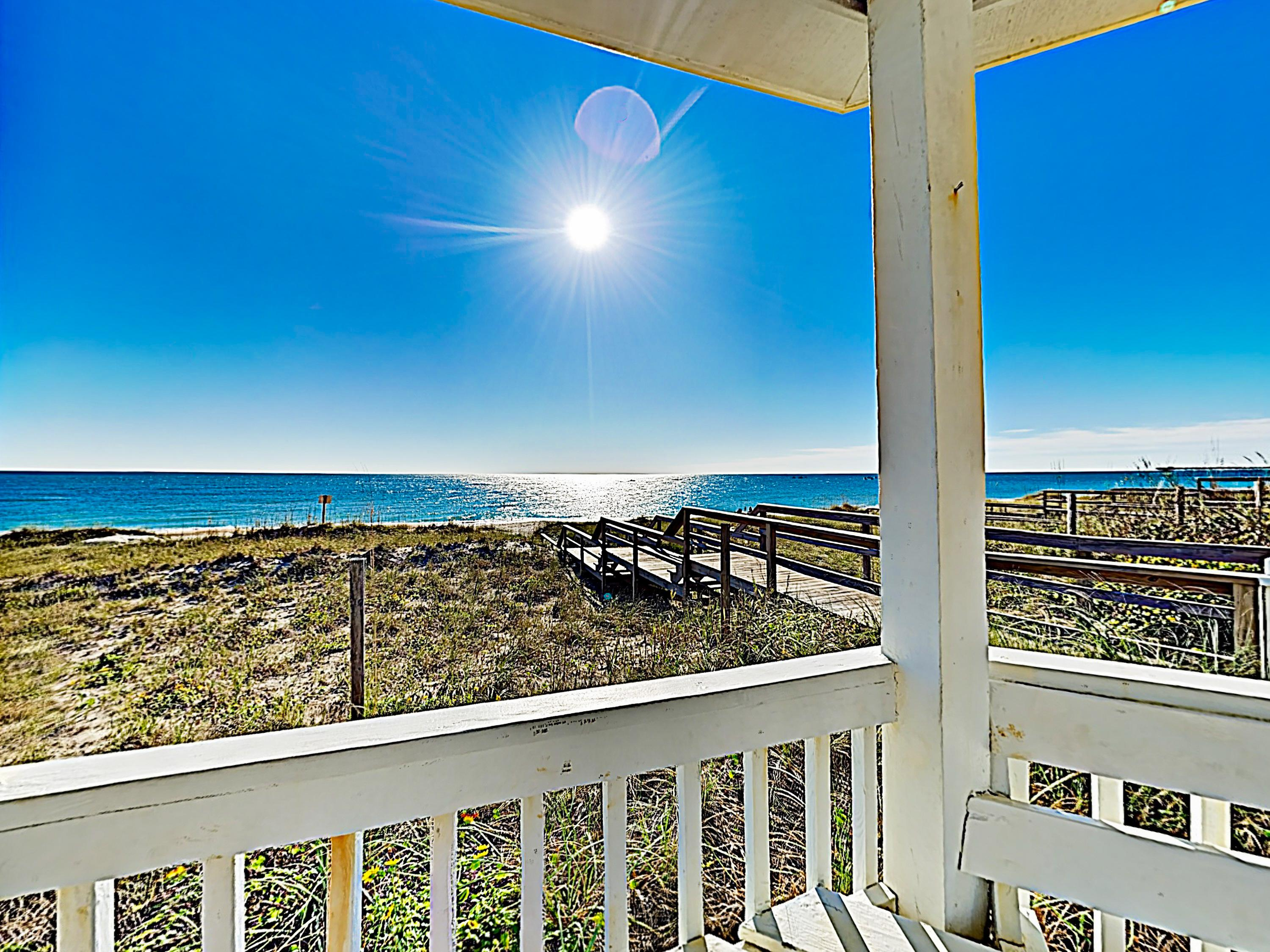 Stroll to the pristine waters of Kure Beach, located just across the main boulevard.