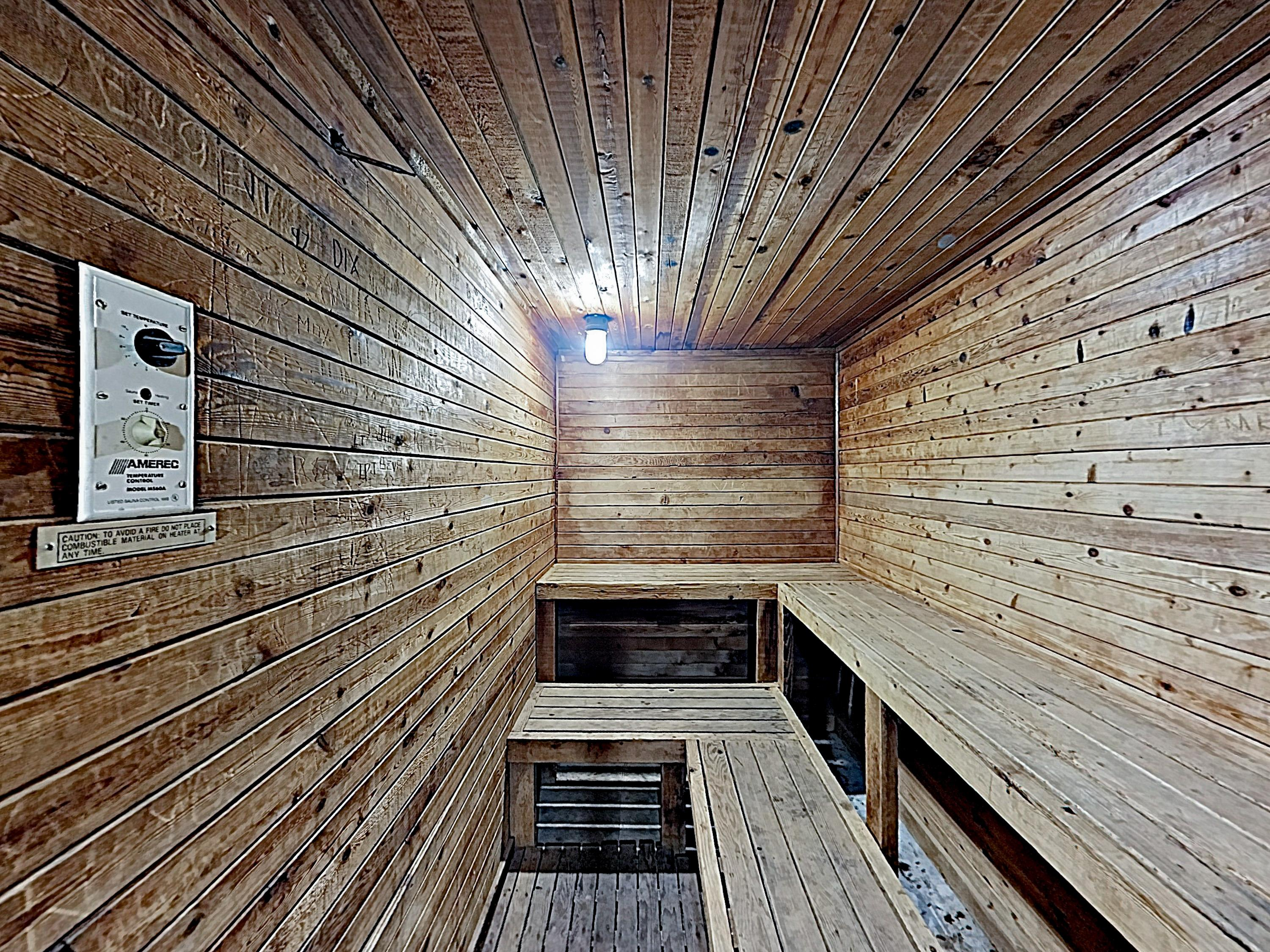 Relax in the on-site sauna.
