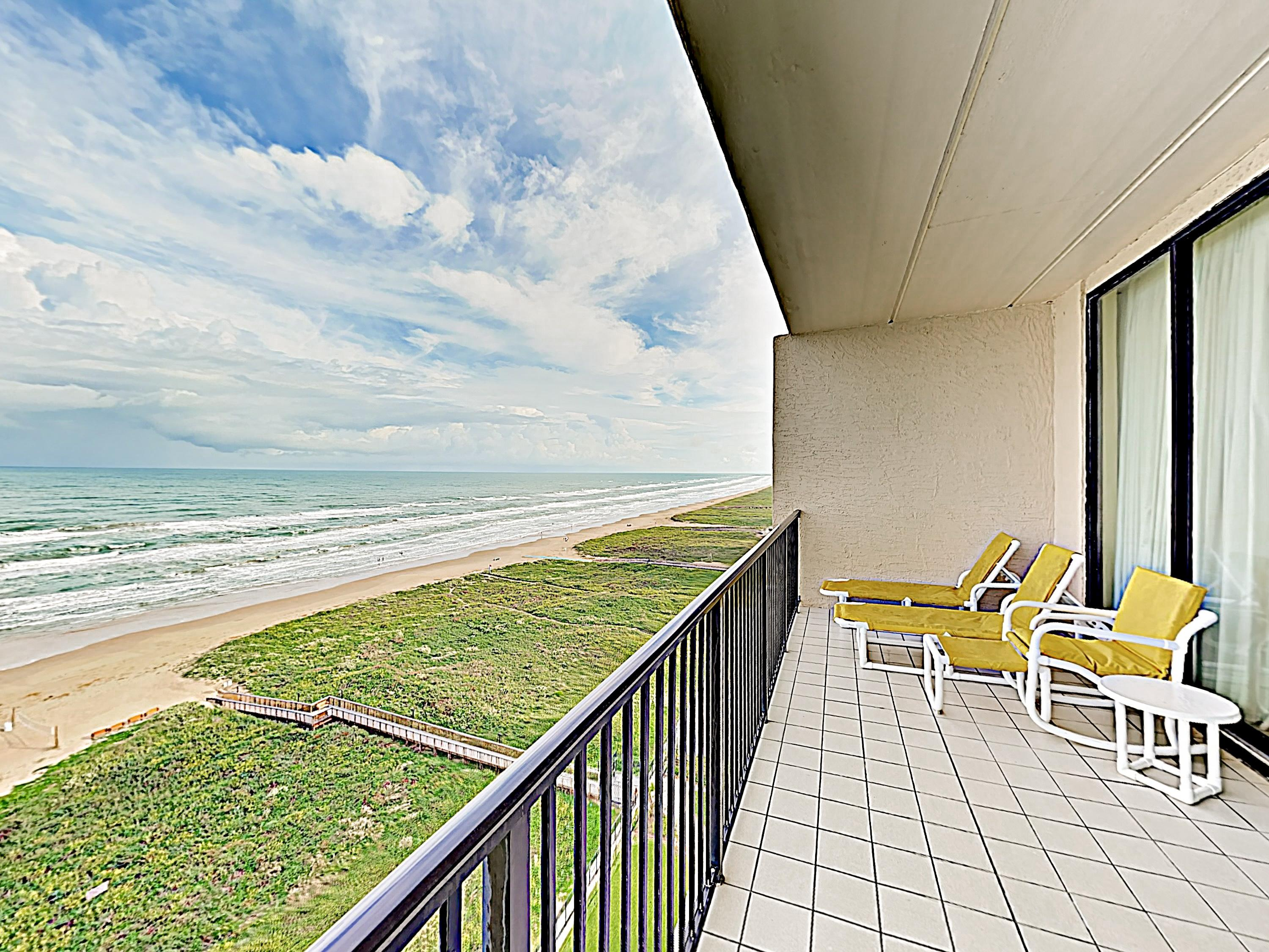 Take in dazzling Gulf views from your large private balcony.