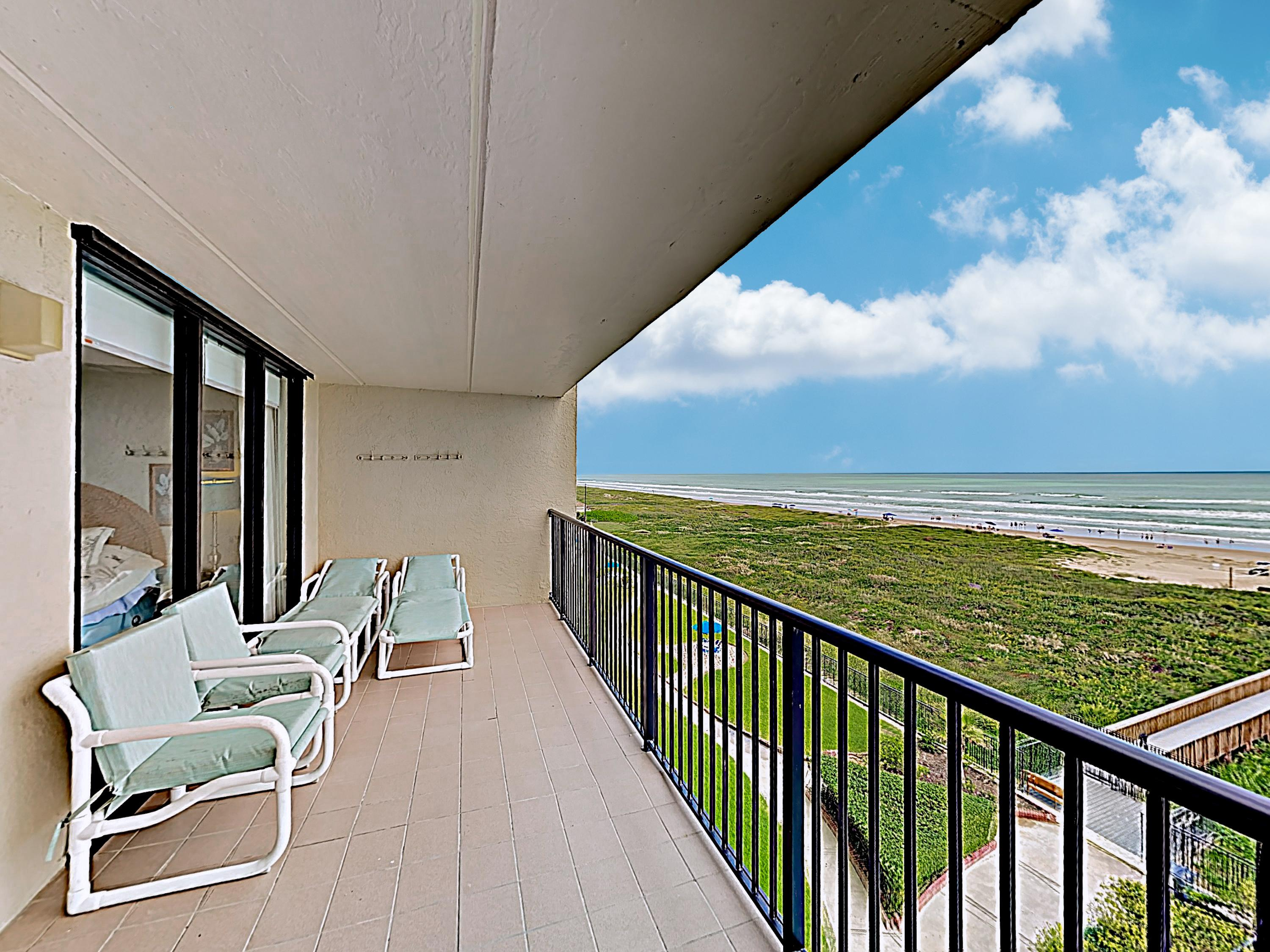Relish in the coastal air from the privacy of the covered balcony.
