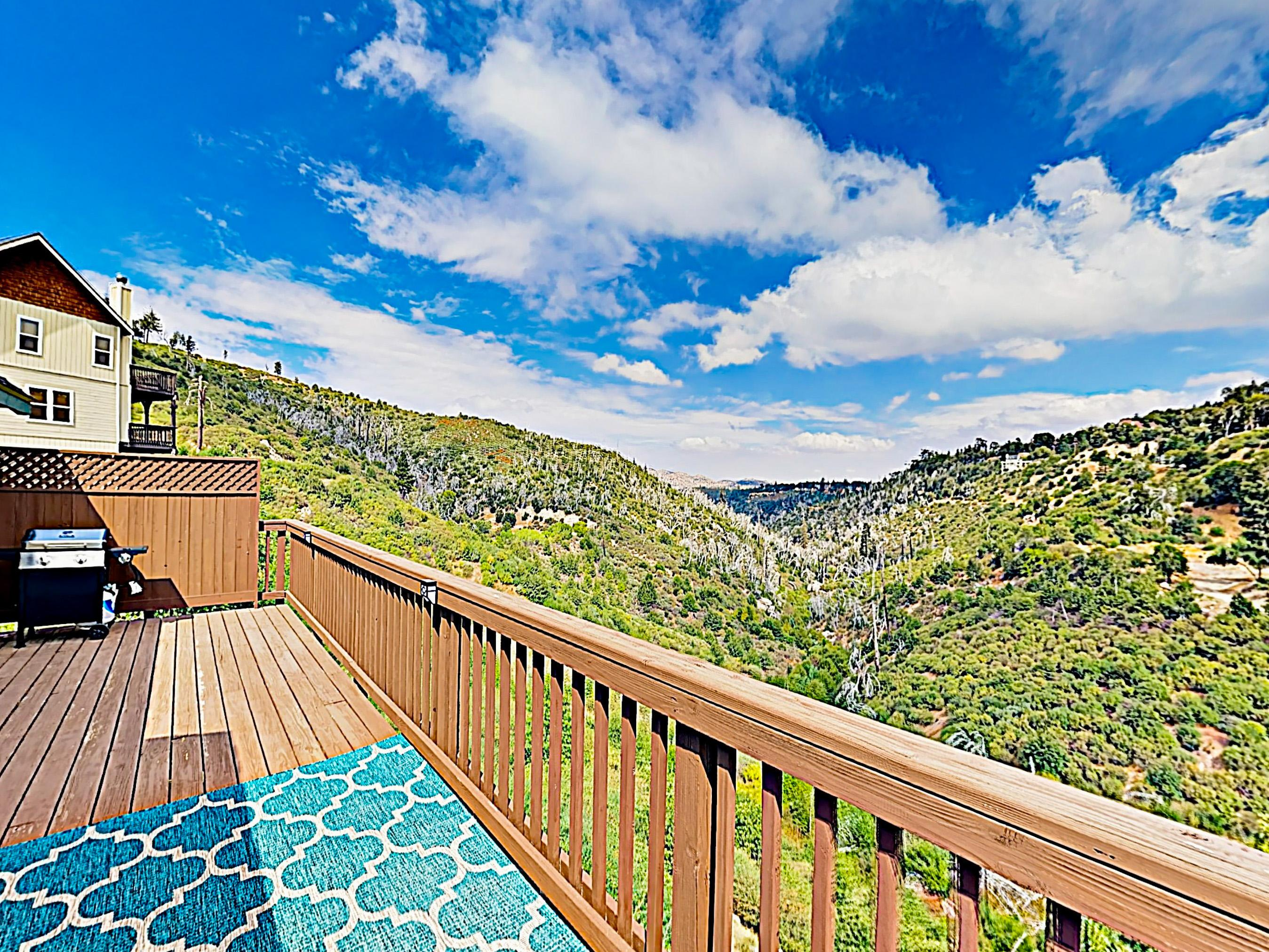 Welcome to Lake Arrowhead! This home is professionally managed by TurnKey Vacation Rentals. Take in mountain vistas from the sweeping upper balcony.