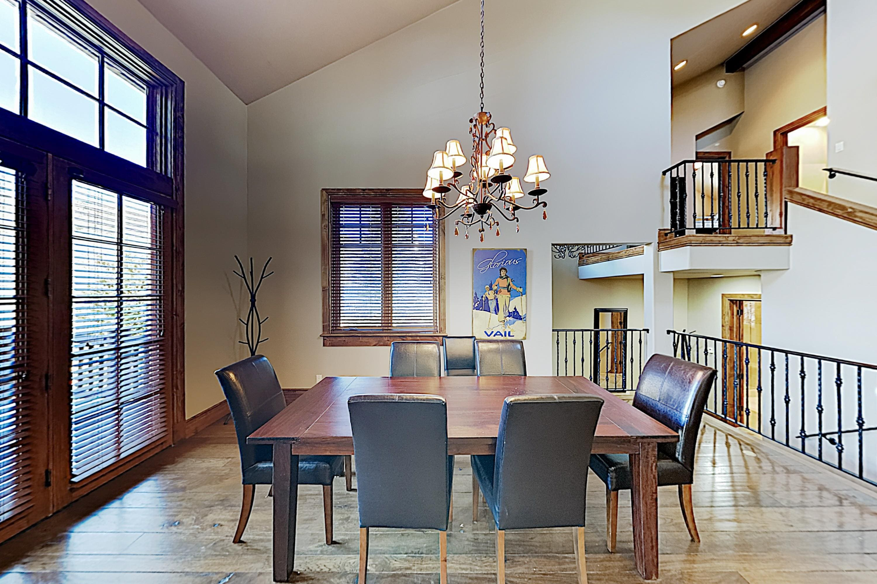 Gather around the table for 6 in the dining area for home-cooked meals.