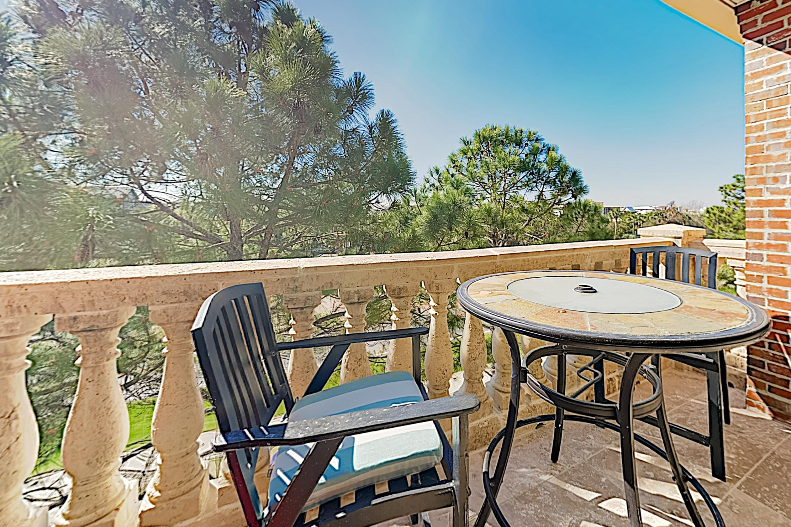 Start the day with breakfast and coffee on your private balcony.